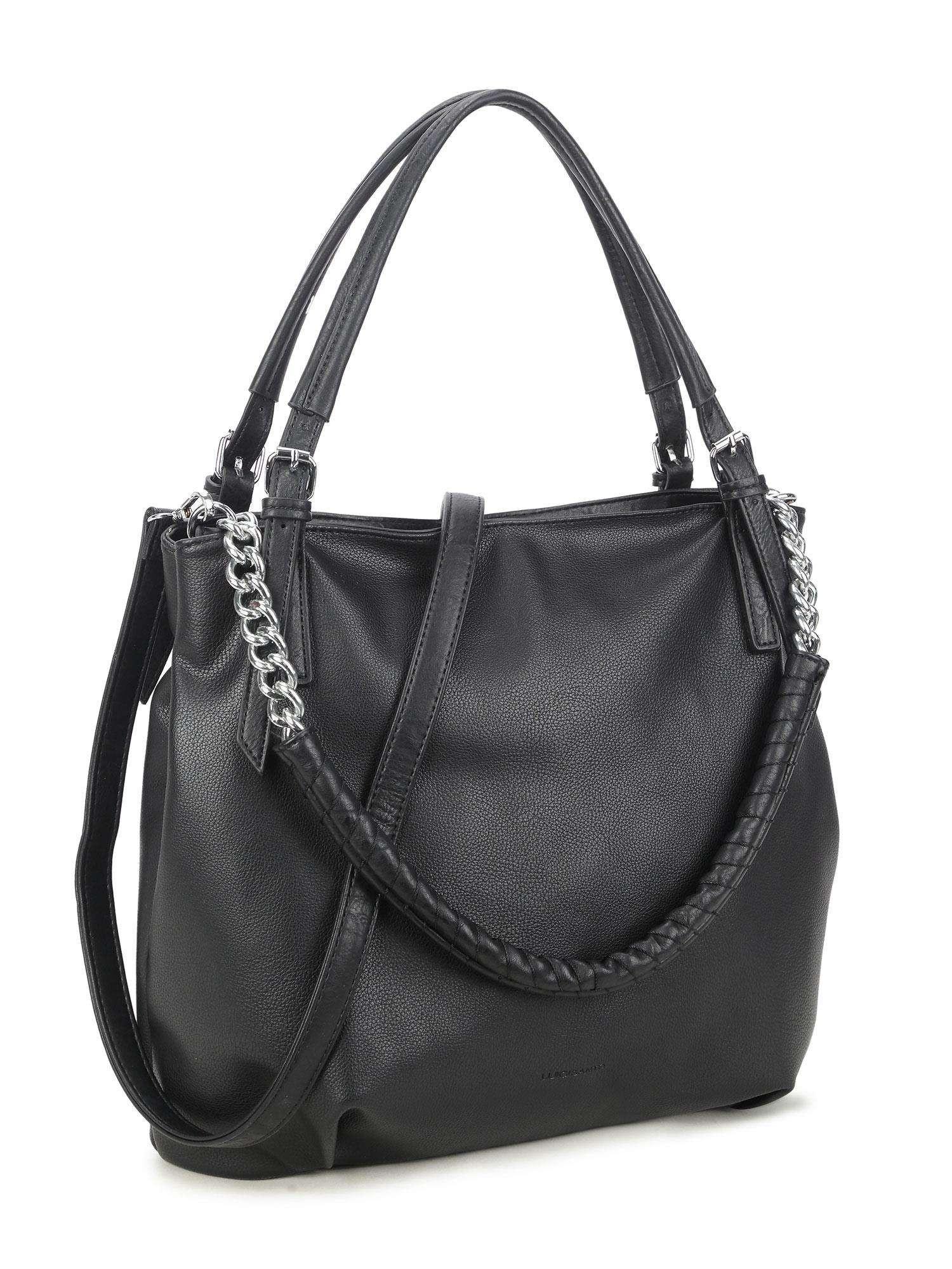 LUIGISANTO Čierna taška s rukoväťou one size