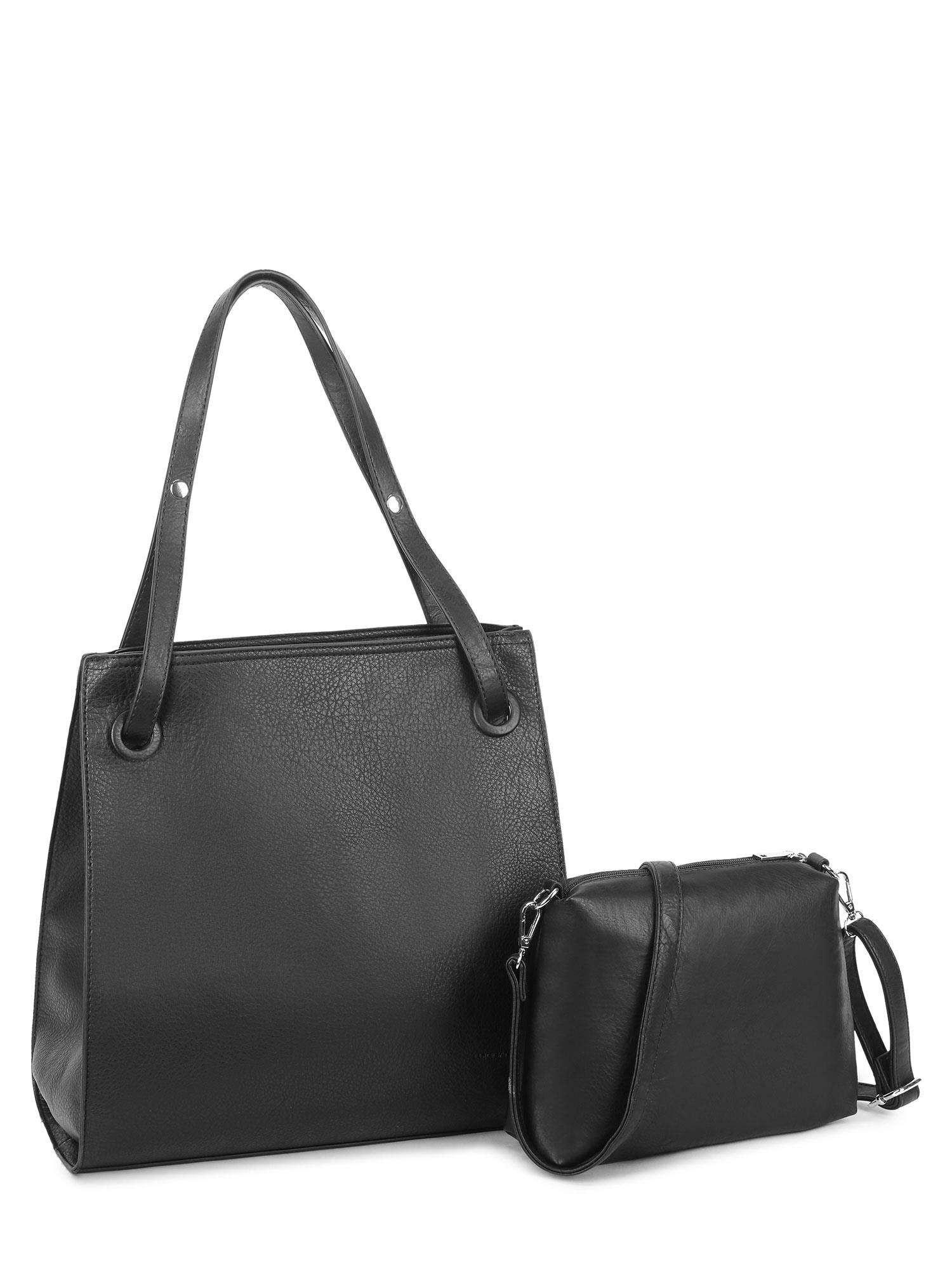 LUIGISANTO Čierna dámska taška z ekologickej kože one size