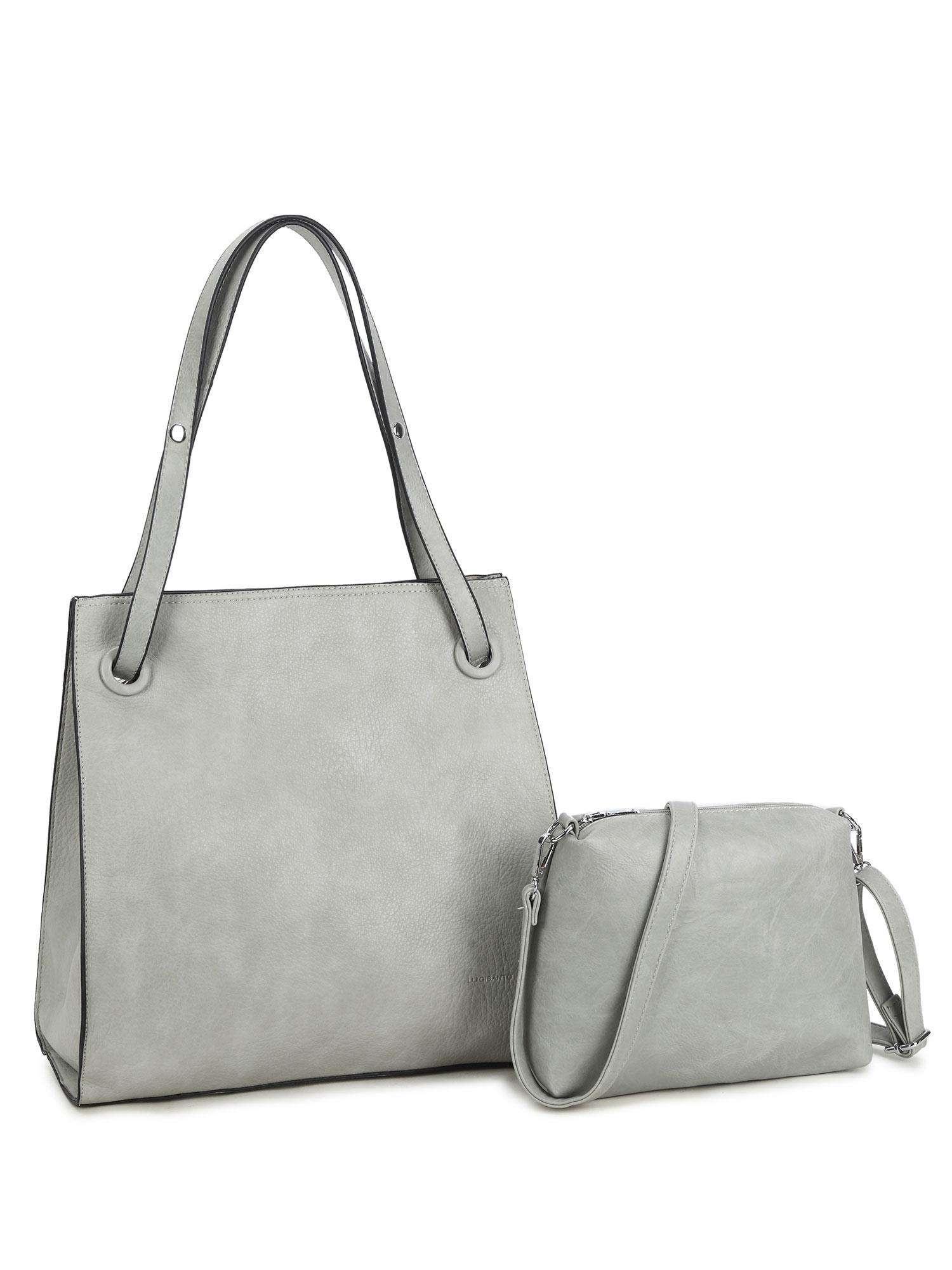 Šedá dámska taška z ekologickej kože LUIGISANTO ONE SIZE