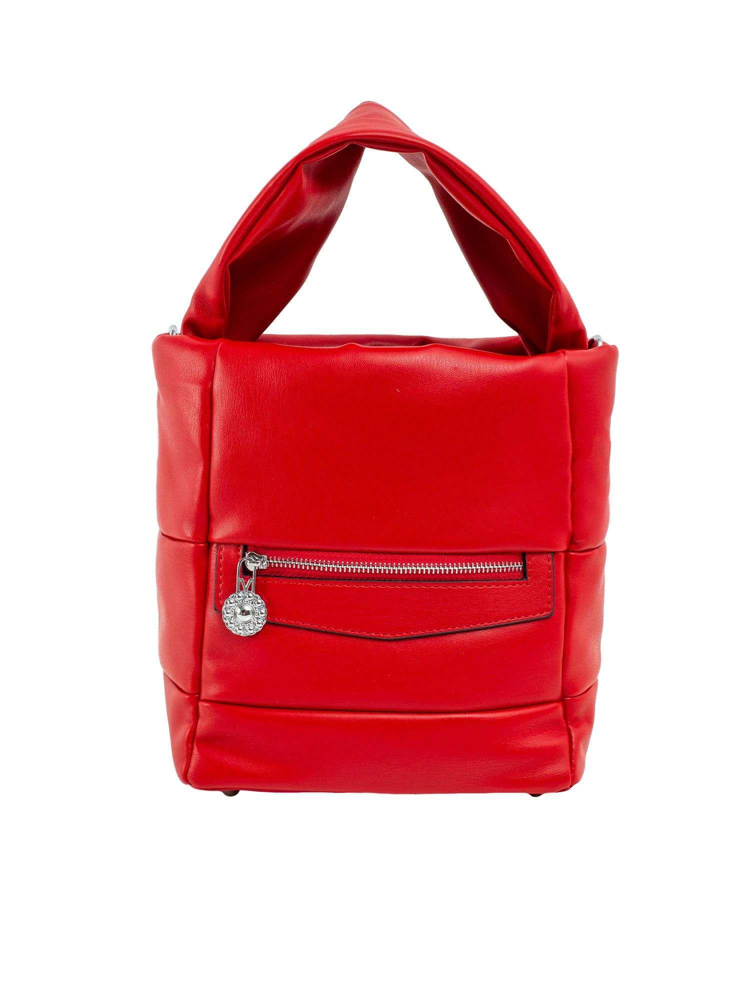 Červená dámska kabelka vyrobená z ekologickej kože ONE SIZE