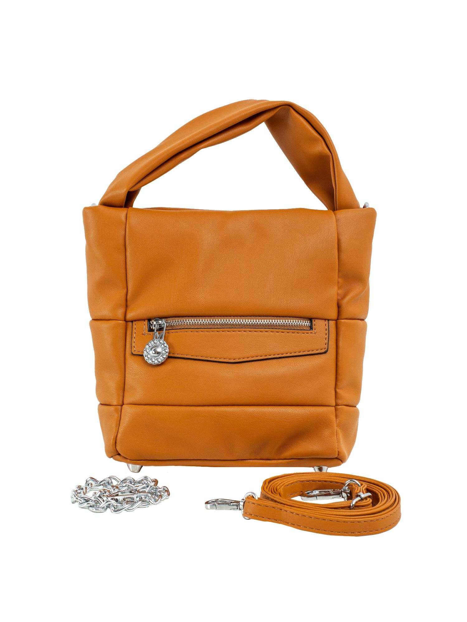 Svetlo hnedá dámska kabelka vyrobená z ekologickej kože ONE SIZE