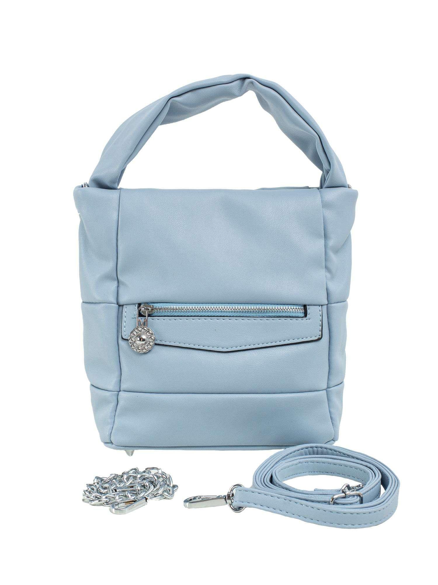 Svetlo modrá dámska kabelka vyrobená z ekologickej kože ONE SIZE
