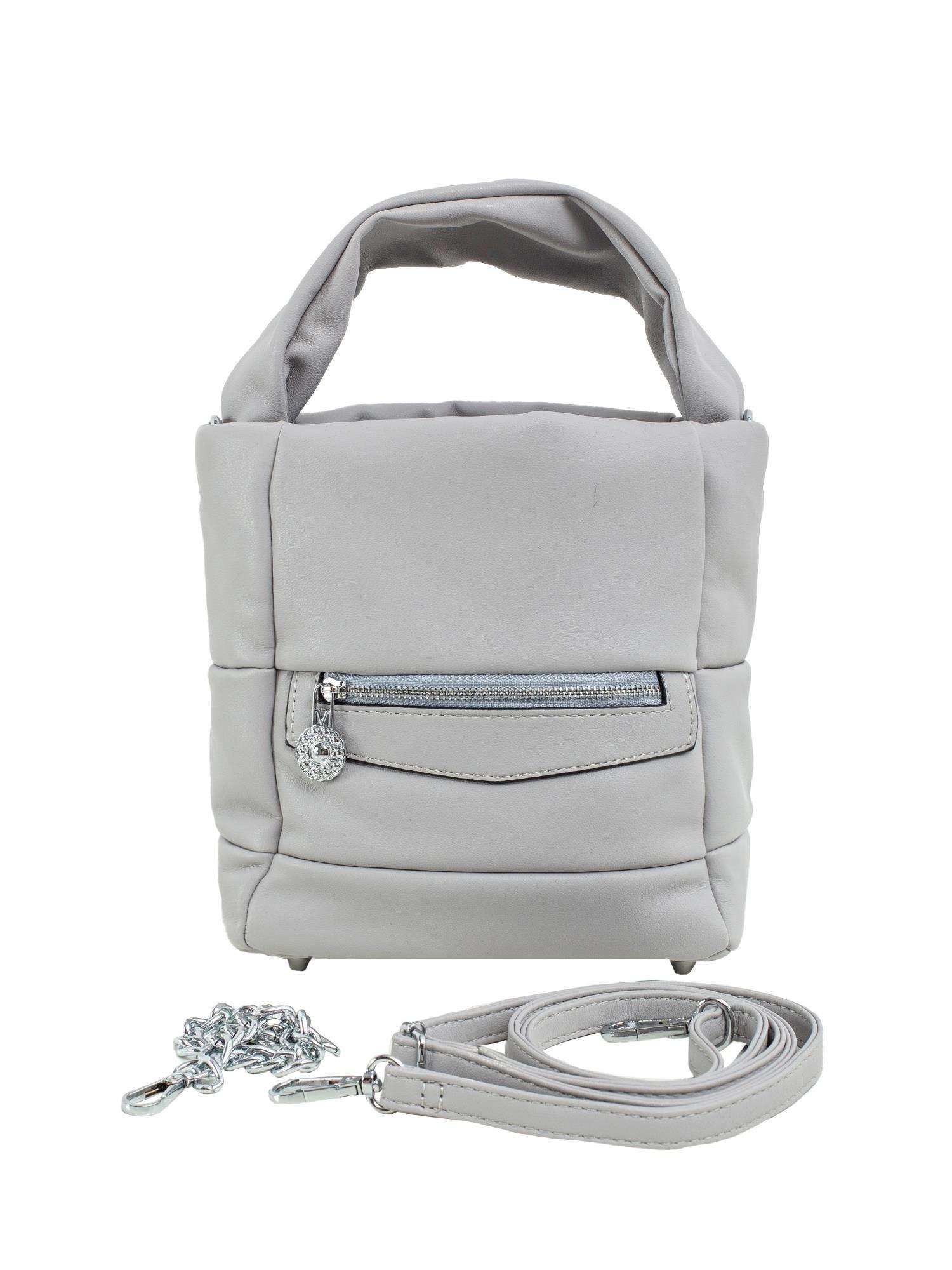 Šedá dámska kabelka vyrobená z ekologickej kože ONE SIZE