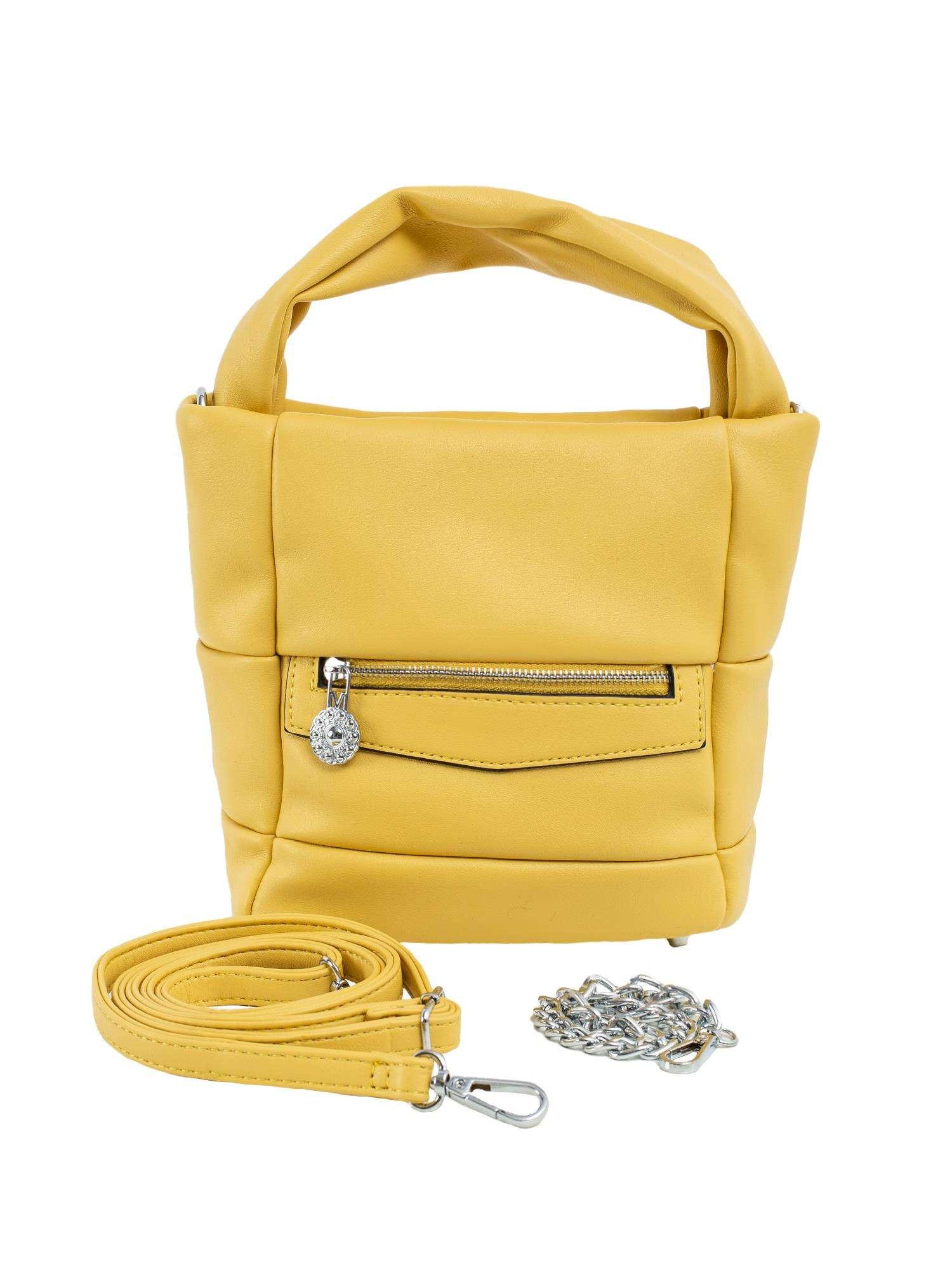 Žltá dámska kabelka vyrobená z ekologickej kože ONE SIZE
