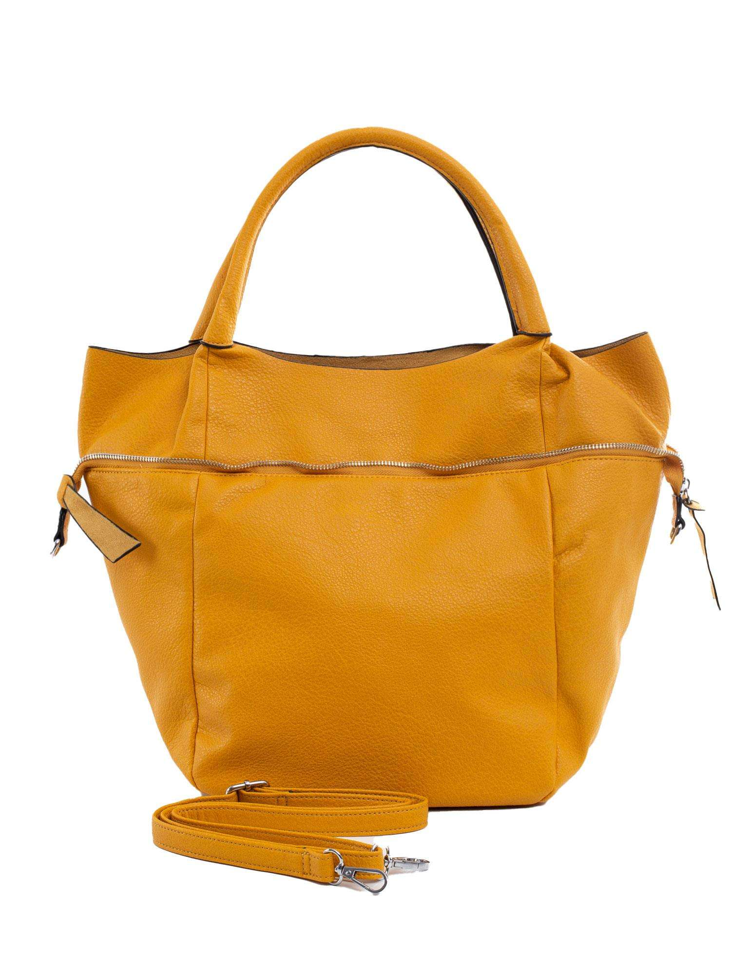 Veľká tmavo žltá dámska taška ONE SIZE