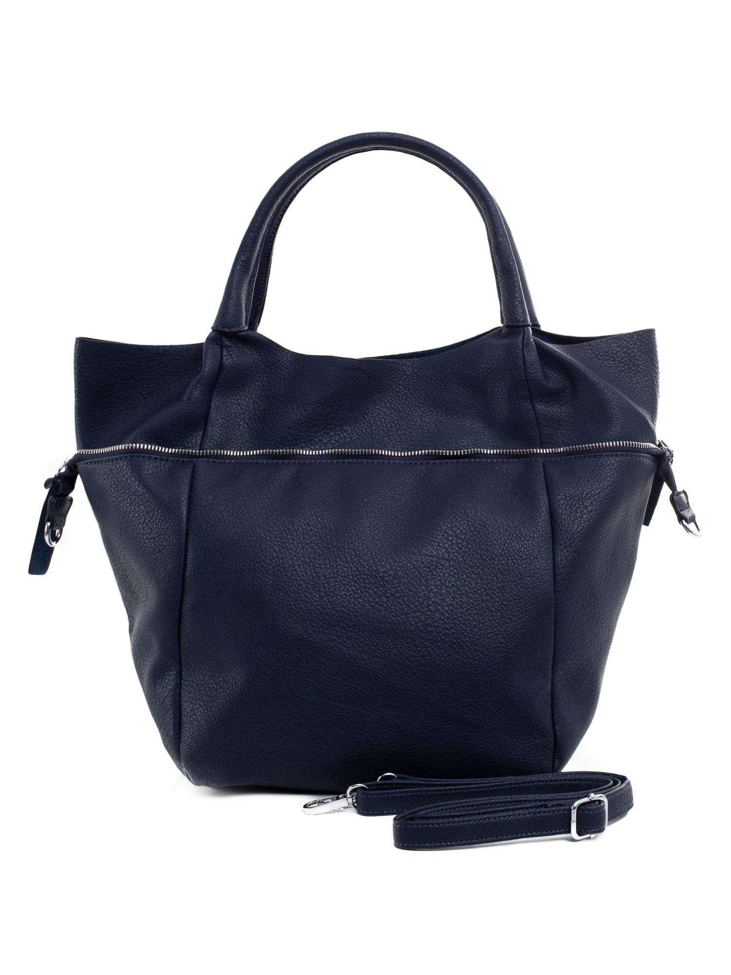 Veľká, tmavo modrá dámska taška ONE SIZE