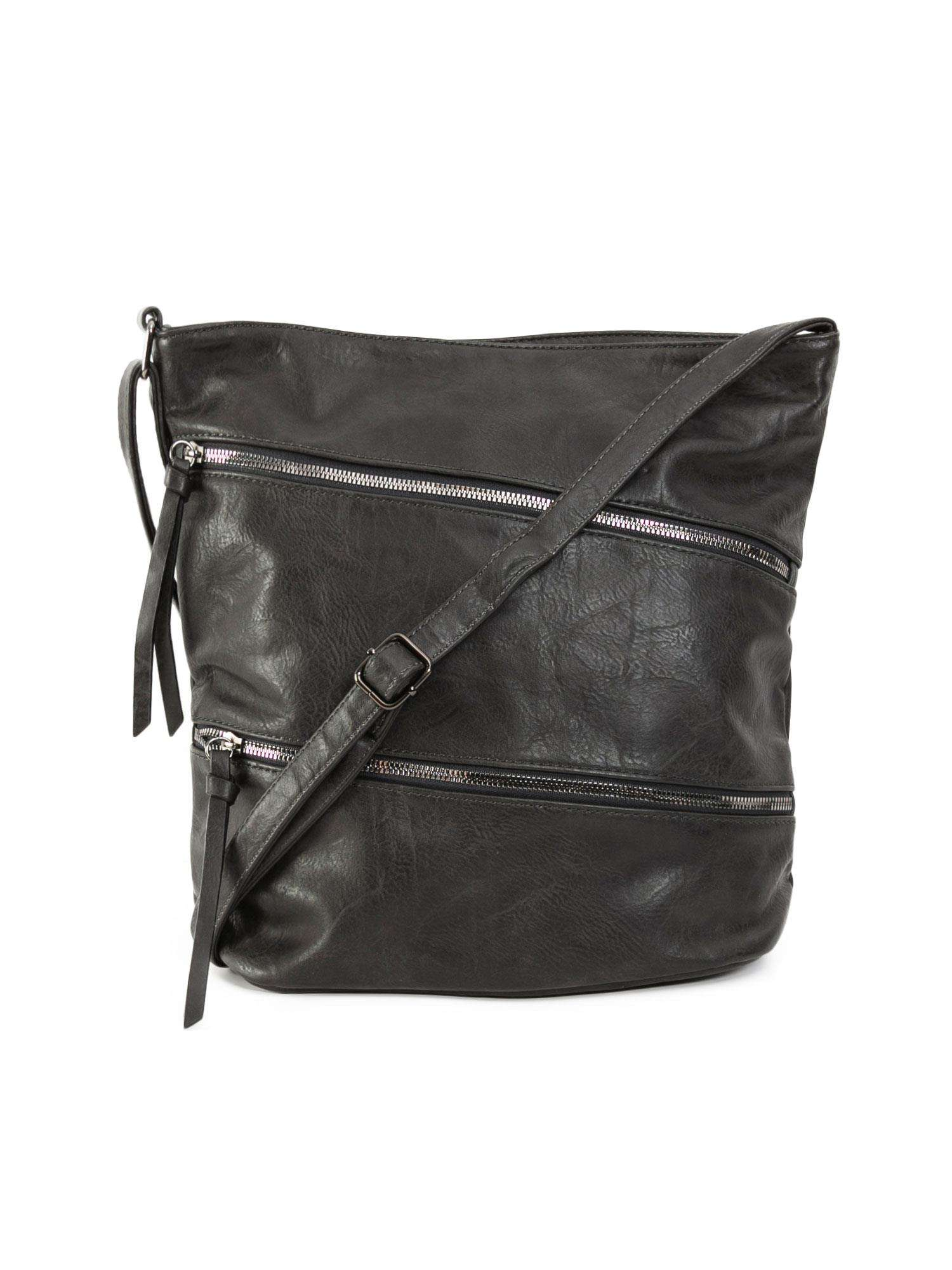 Veľká tmavo šedá dámska taška ONE SIZE