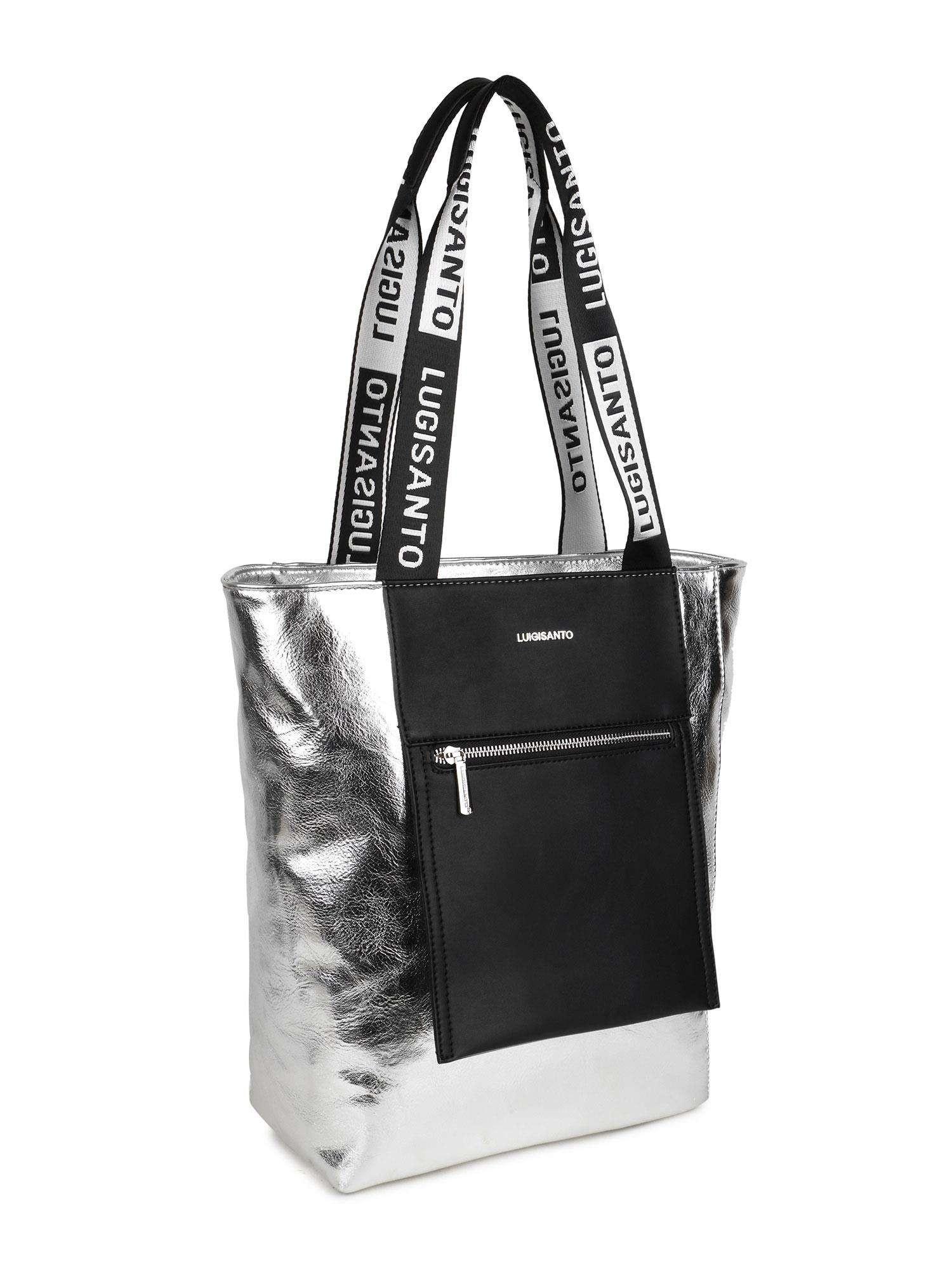 LUIGISANTO Strieborná taška cez rameno one size