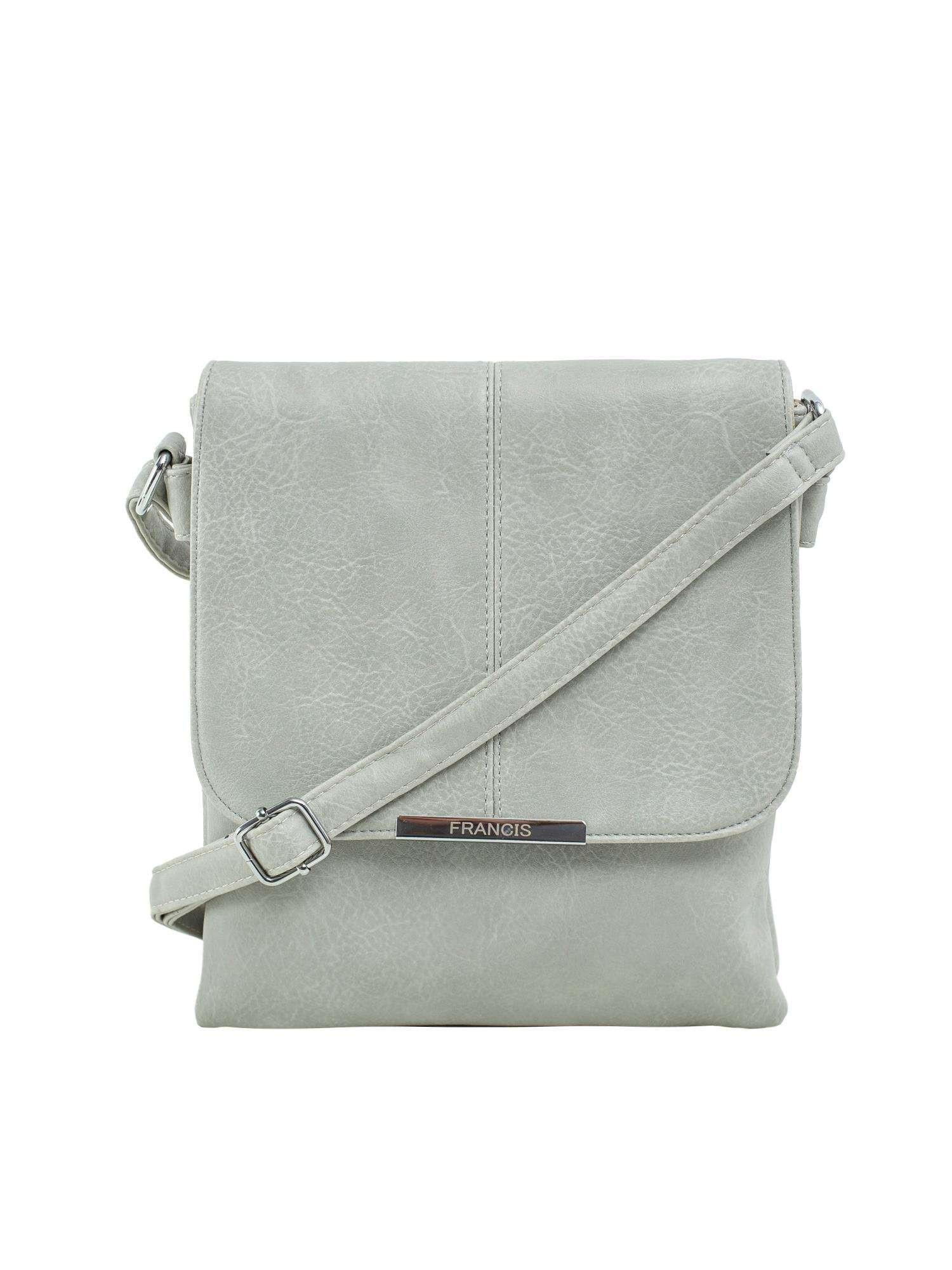 Šedá dámska taška s chlopňou ONE SIZE