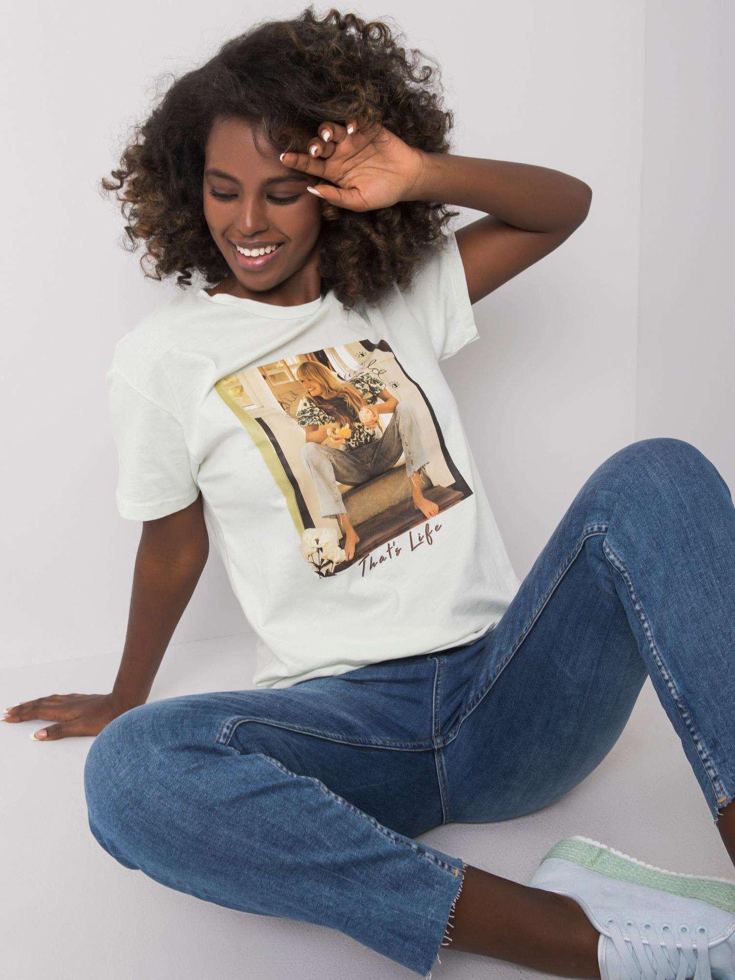 Mätové dámske tričko s potlačou M