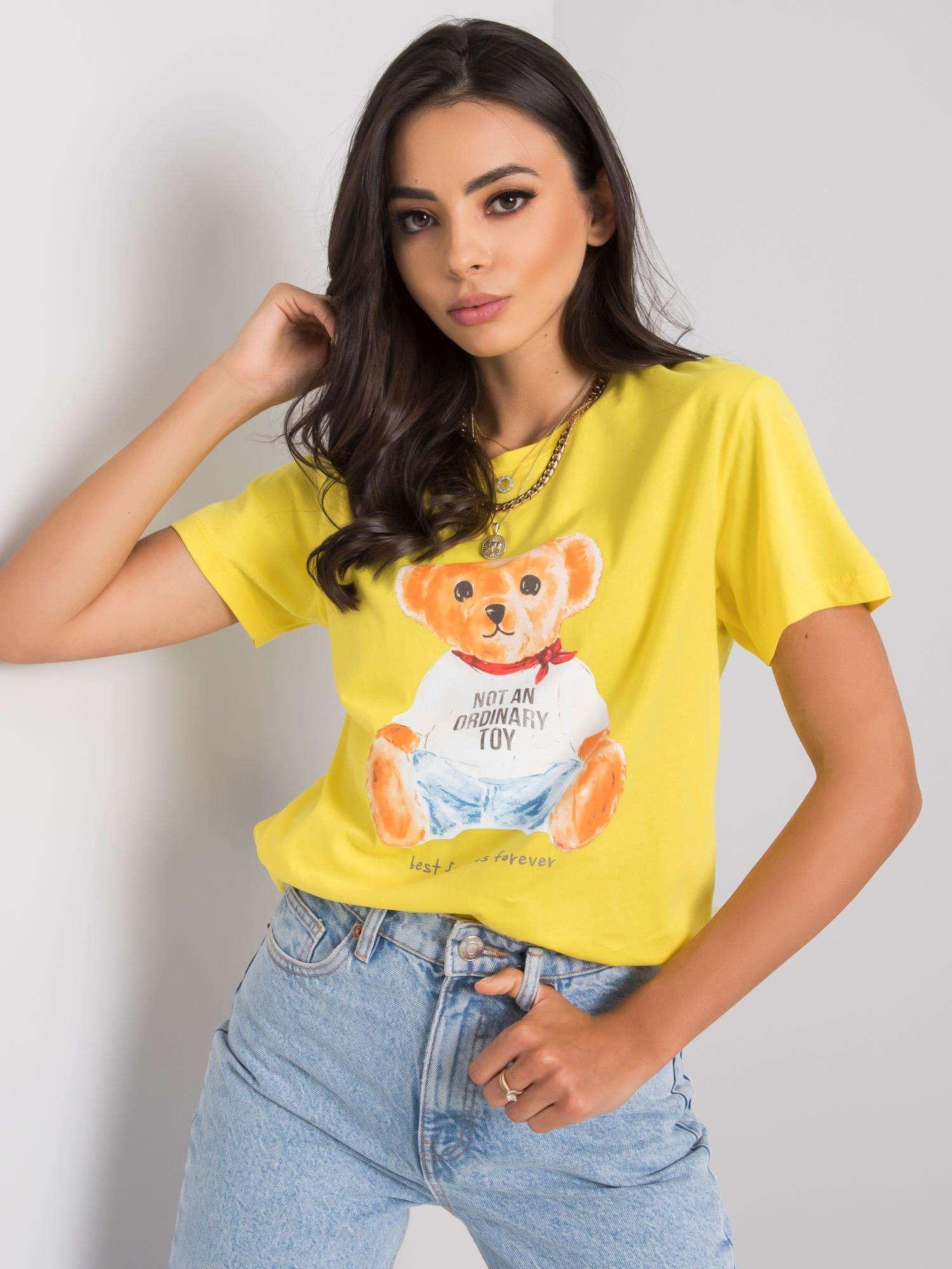Žlté tričko s potlačou S