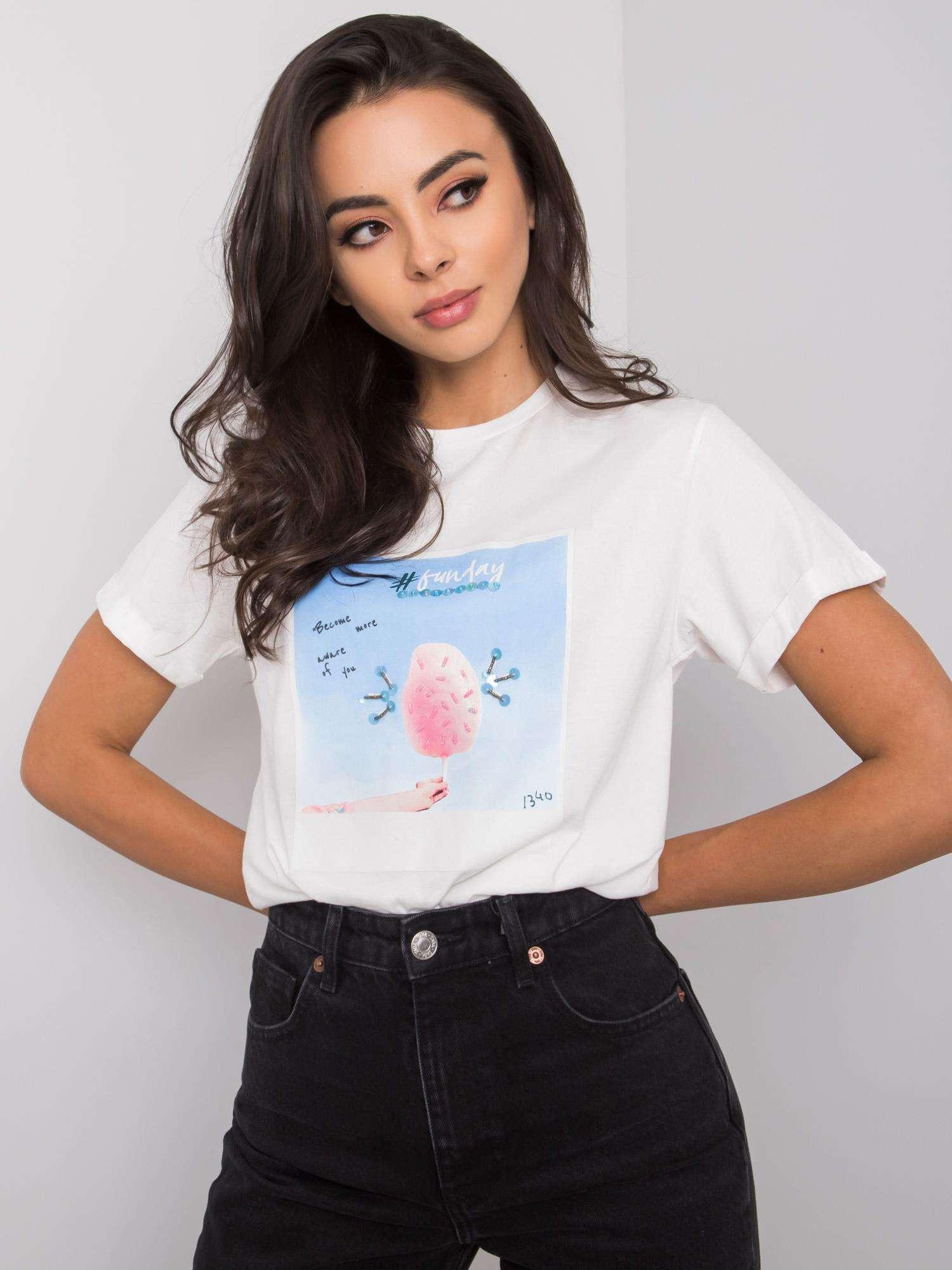 Biele tričko s potlačou S