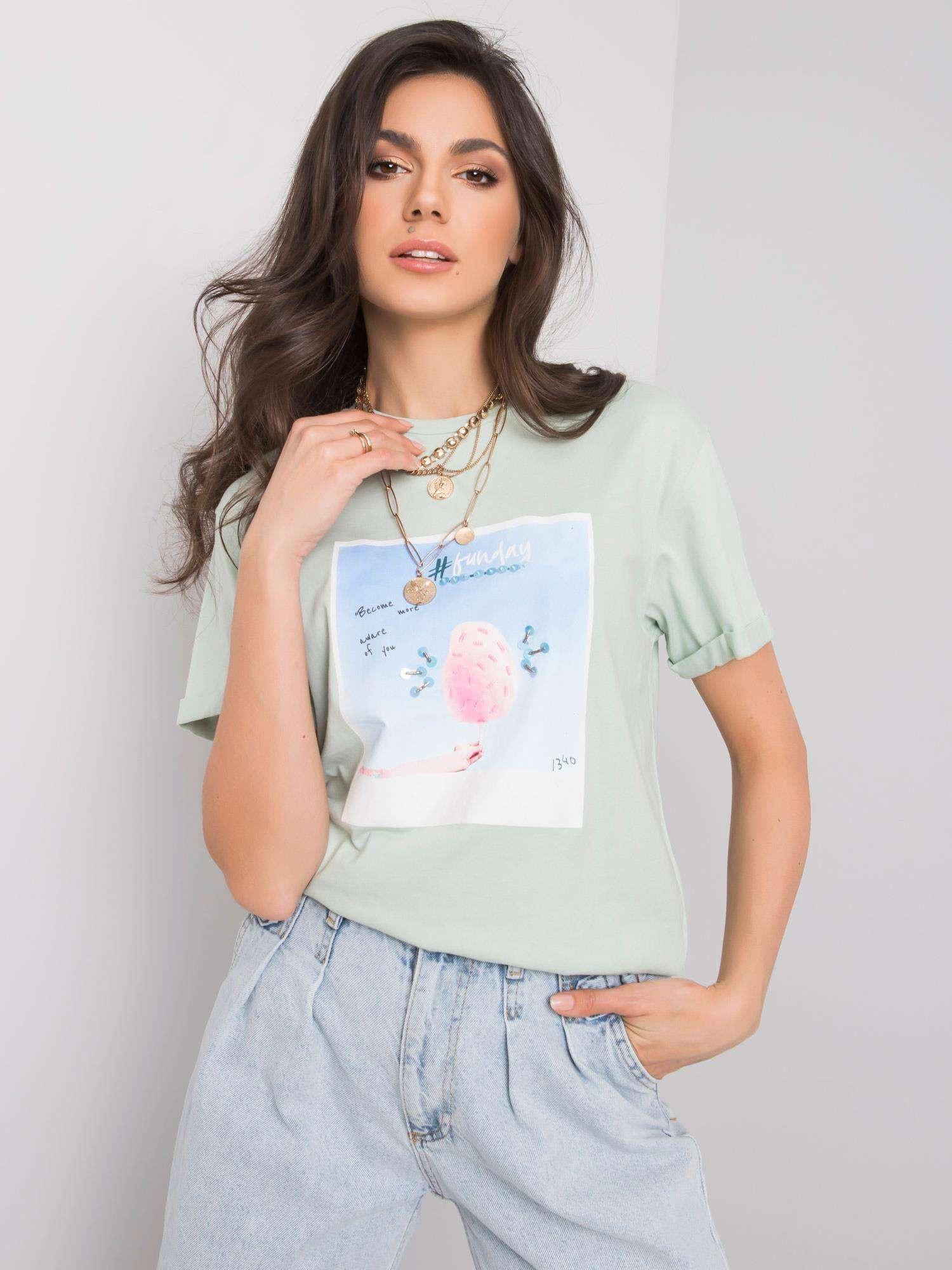 Mätové tričko s potlačou S