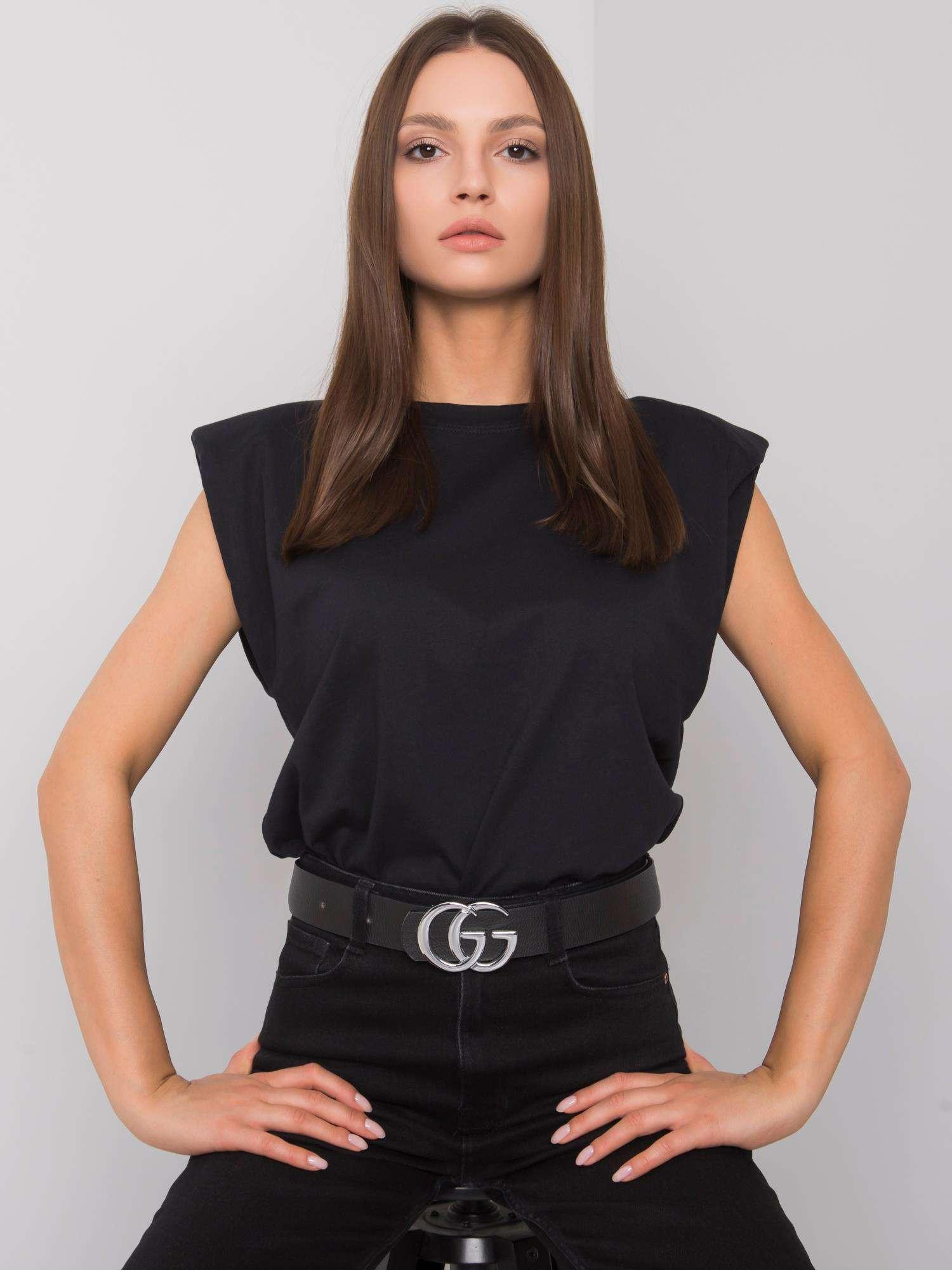 Čierne dámske tričko L