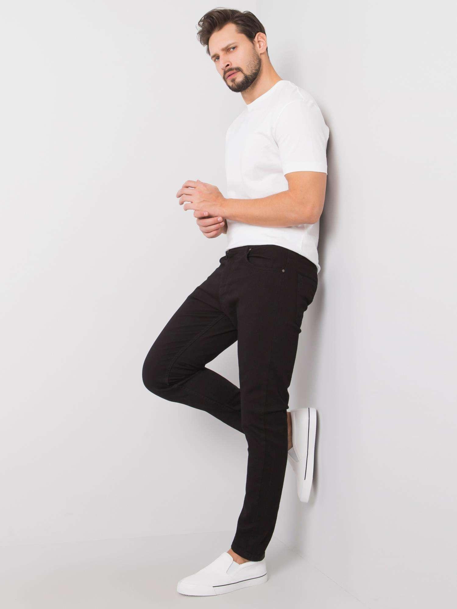 Pánske čierne džínsové nohavice XL