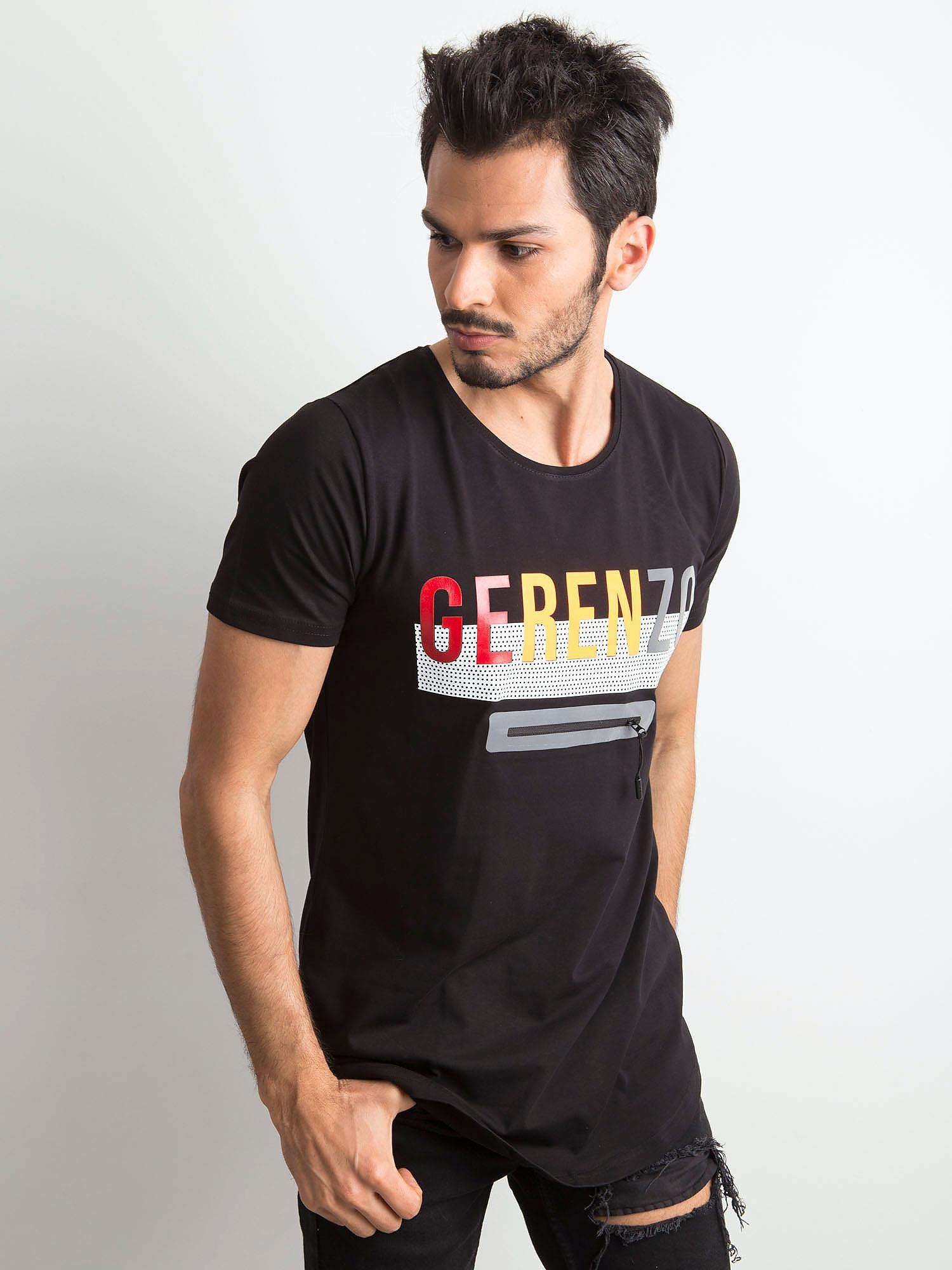 Pánske bavlnené tričko s nápisom čierna M