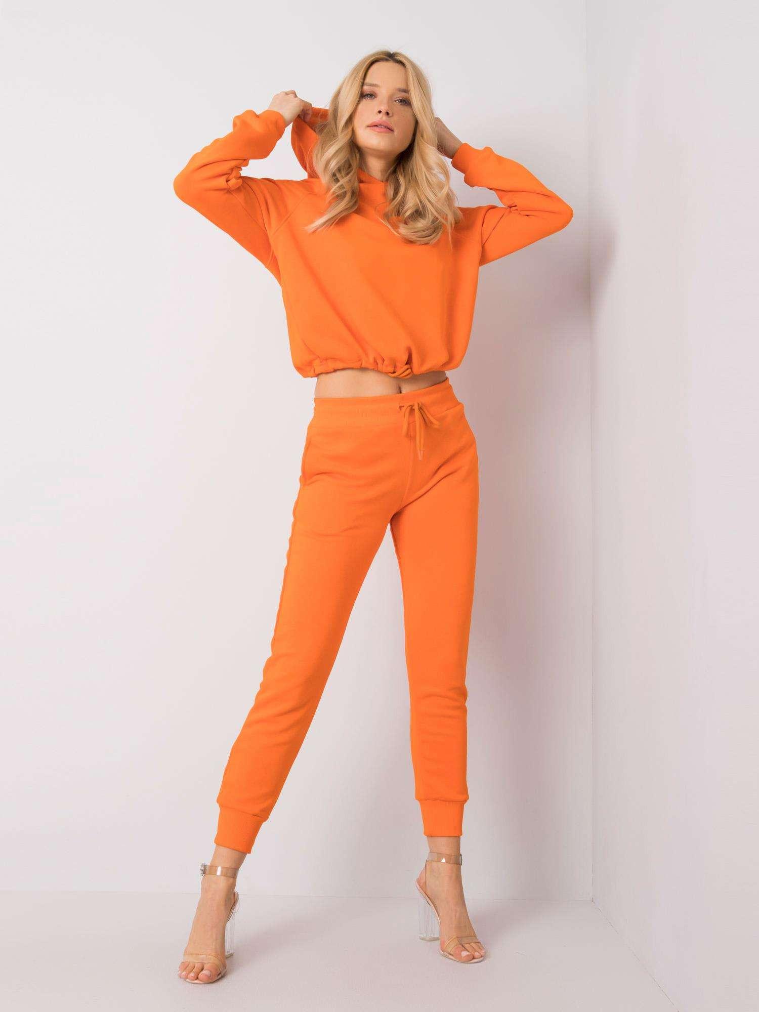 Fluo oranžová mikina S