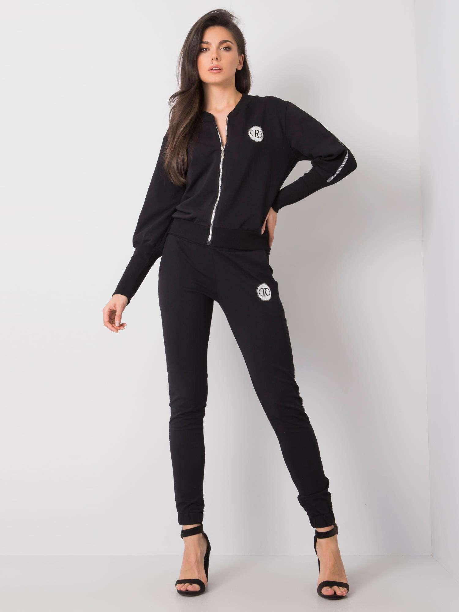 Čierna dámska bavlnená súprava L/XL