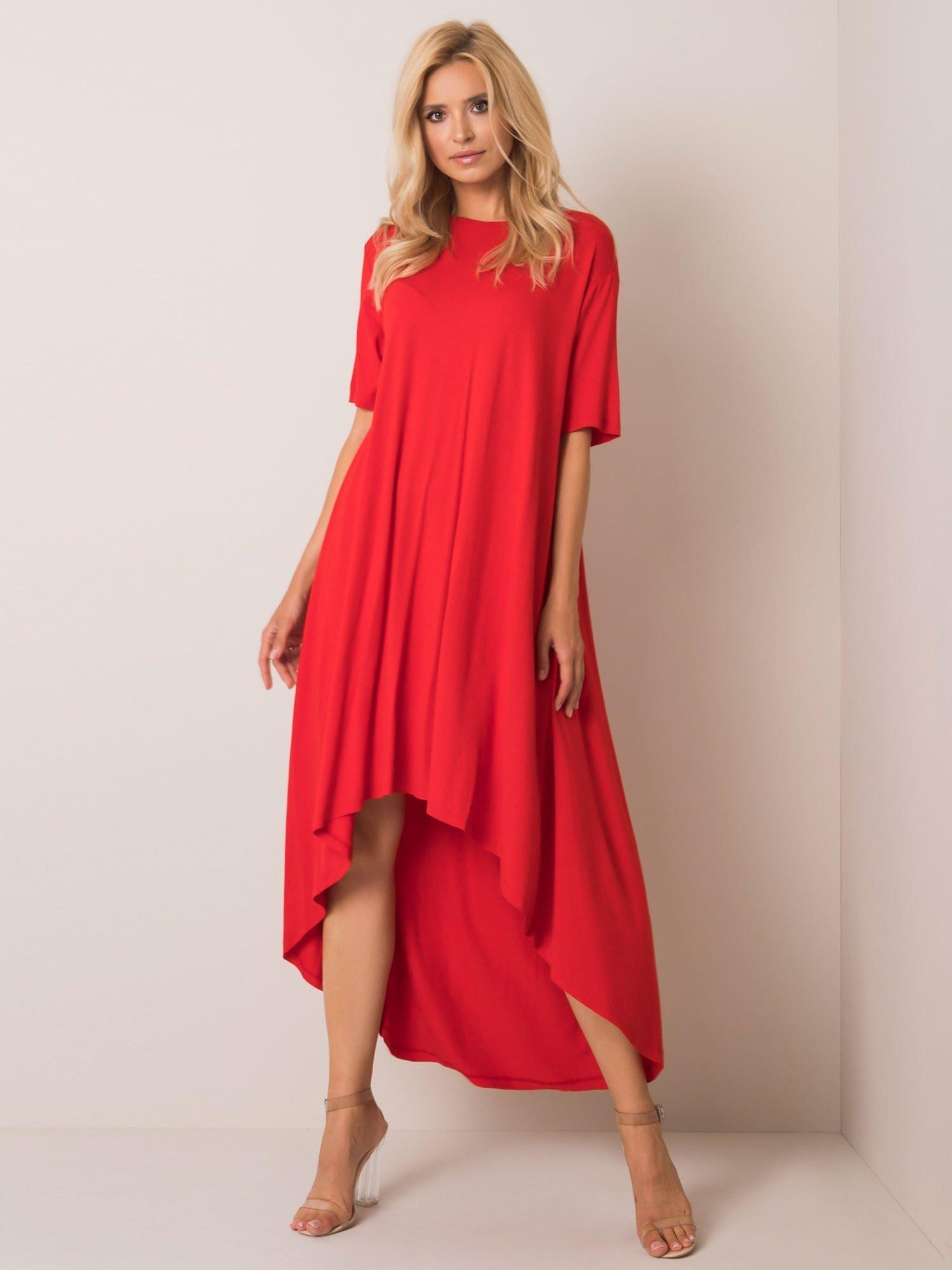 Červené nadmerné šaty S / M