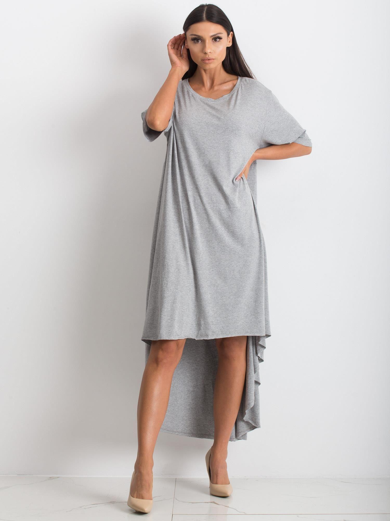 Šedé nadmerné šaty L / XL