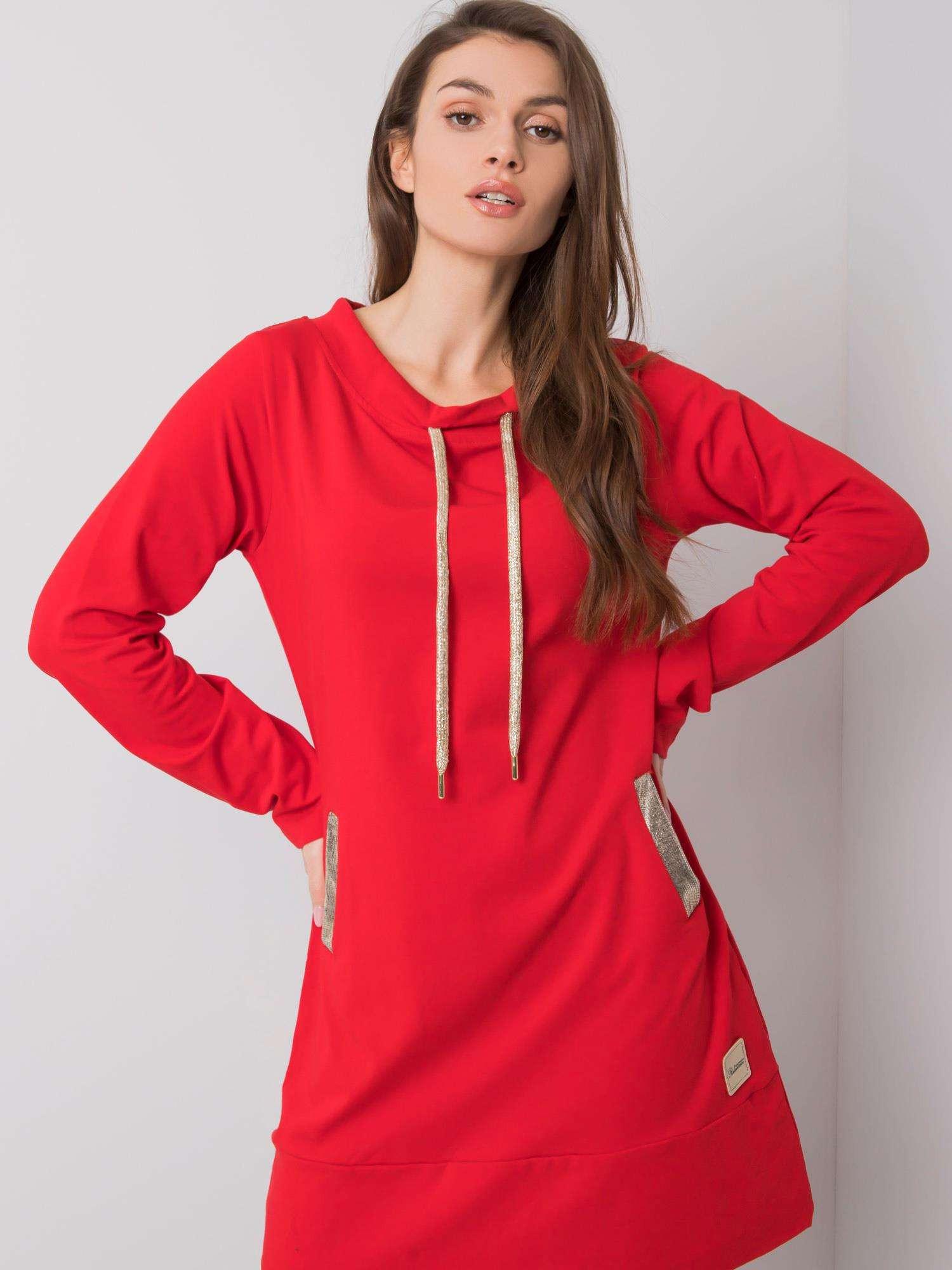 Červené bavlnené šaty S / M