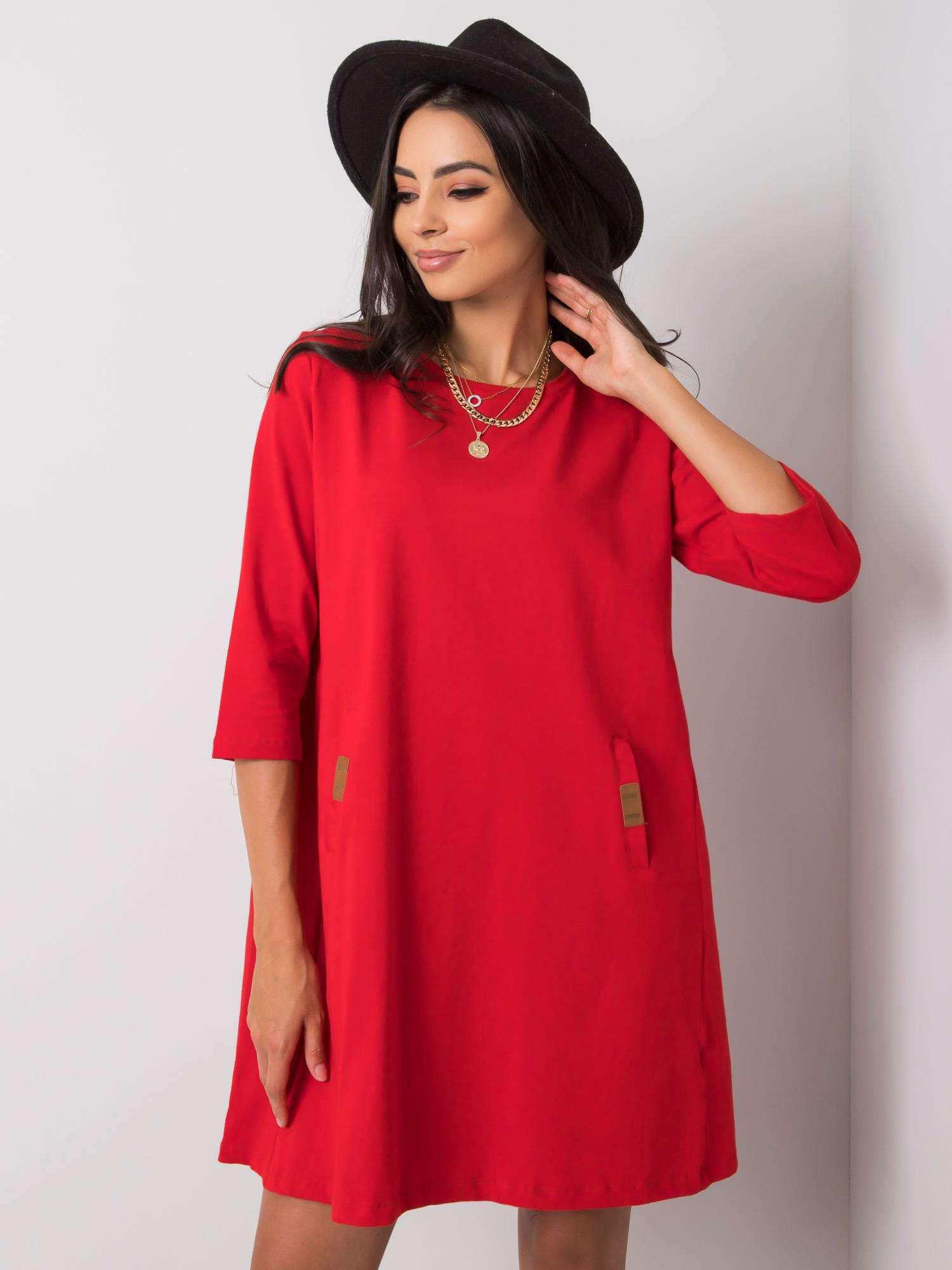 Červené voľné šaty S / M