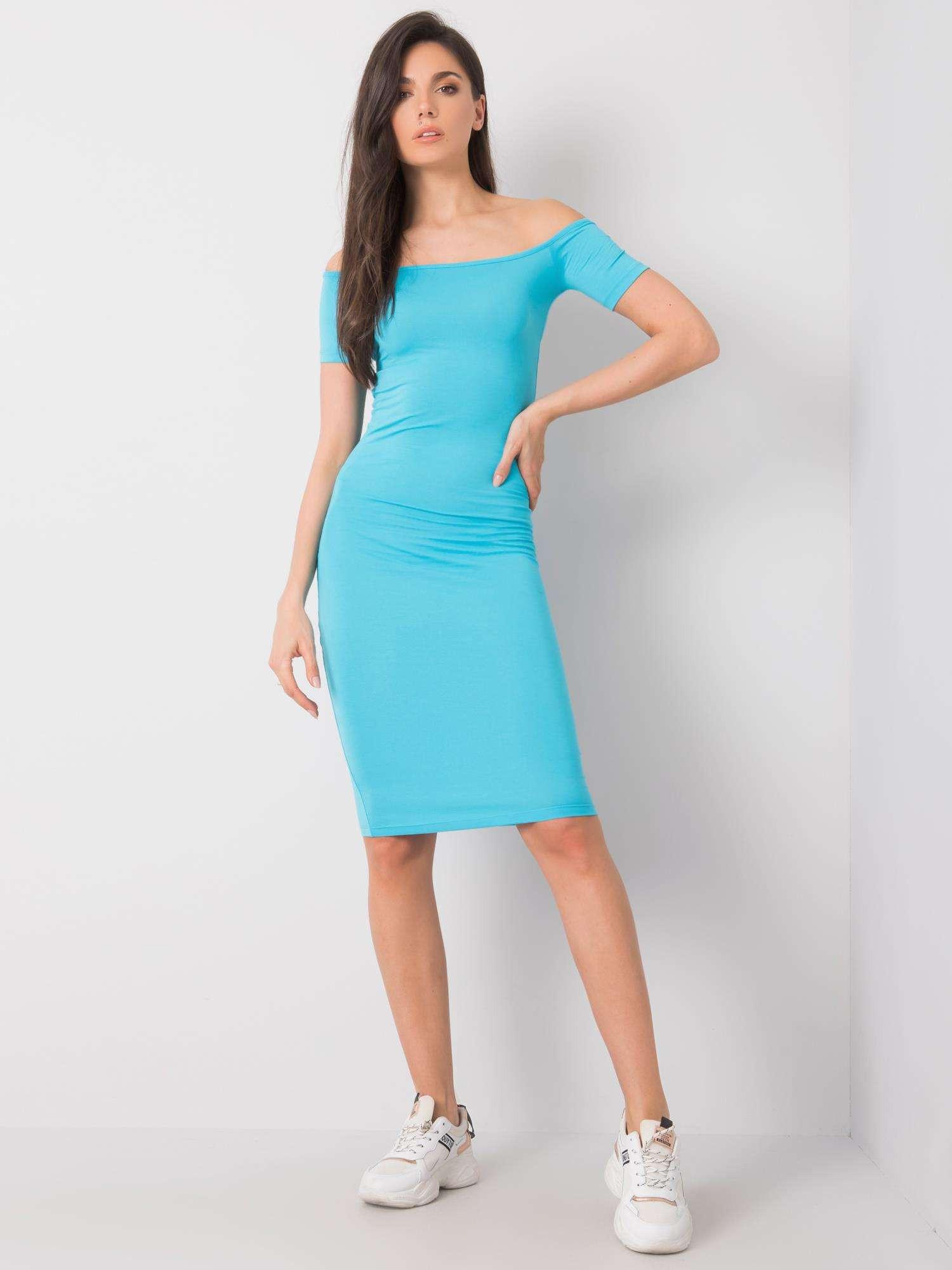 RUE PARIS Dámske modré šaty M