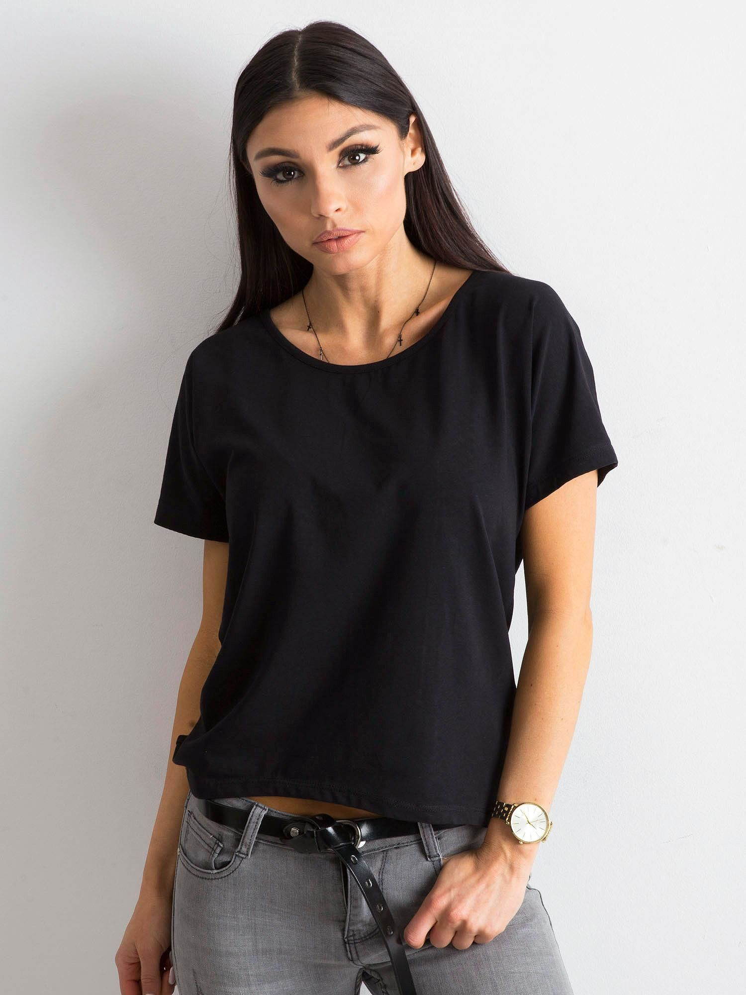 Dámske čierne tričko XS