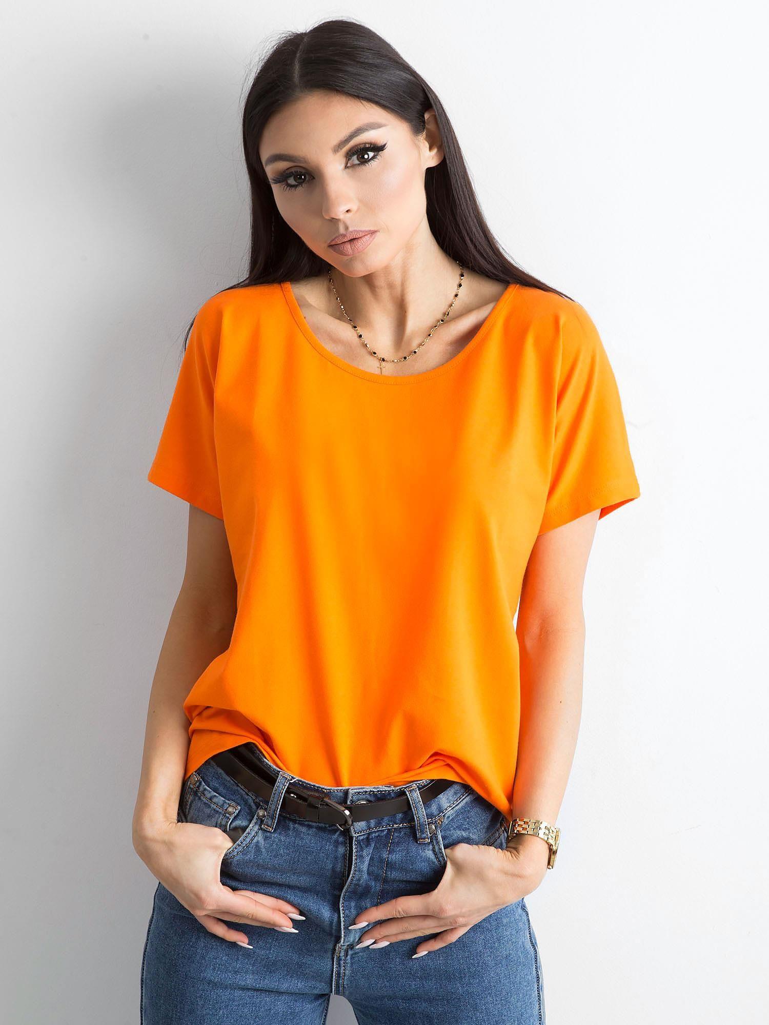 Dámske oranžové tričko S