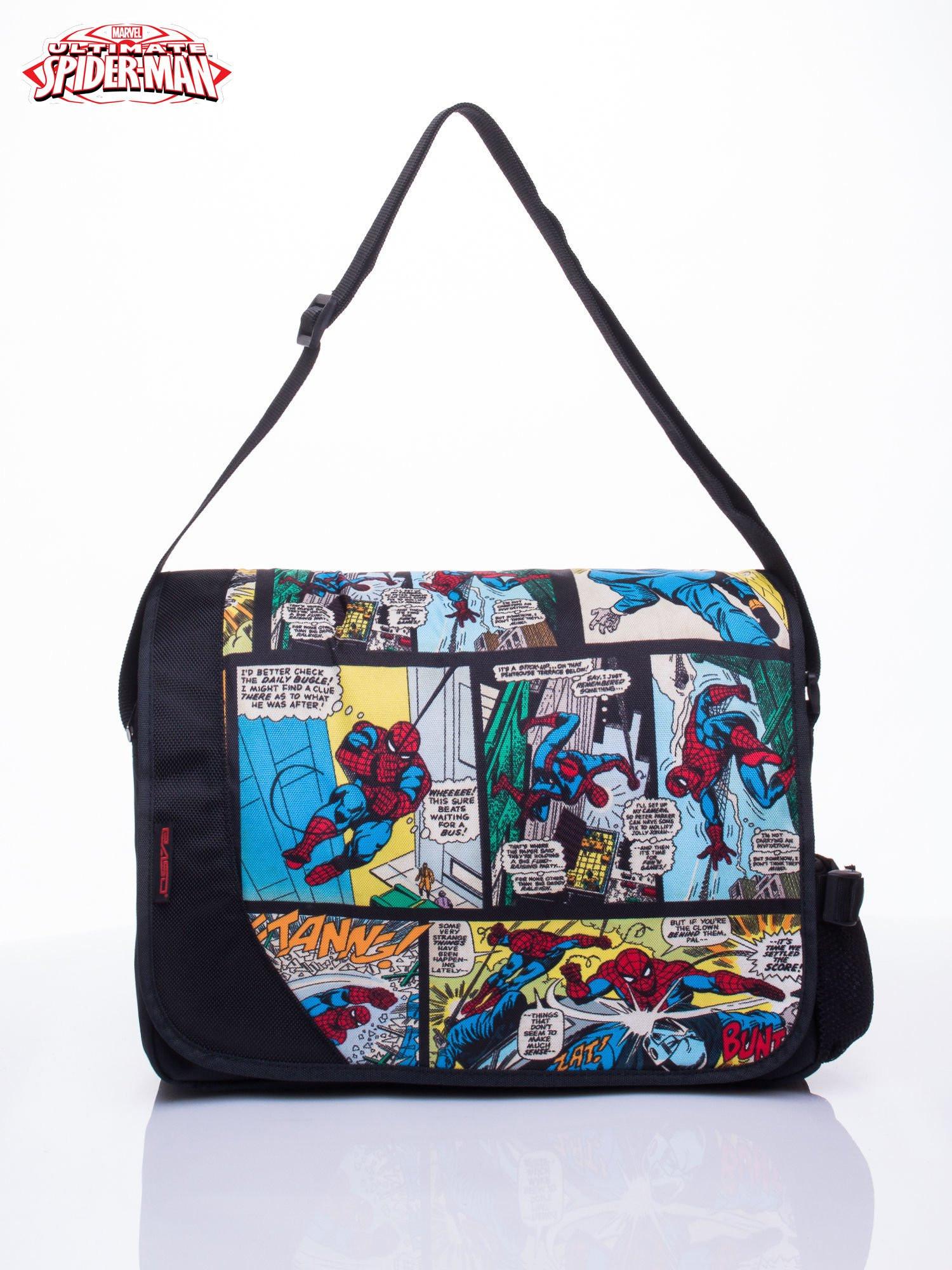 Černá školní taška s motivem Spidermana