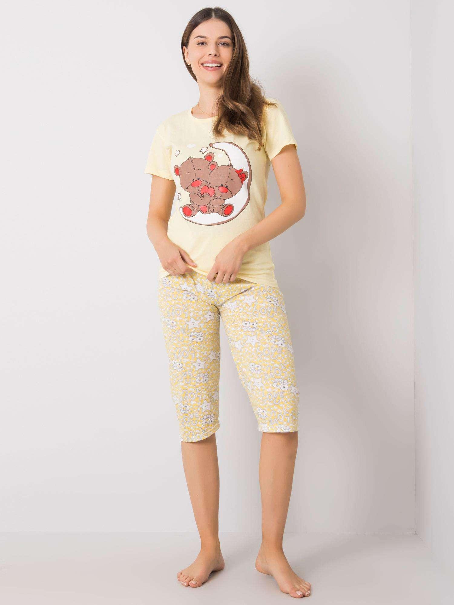 Žlté dámske pyžamo XL