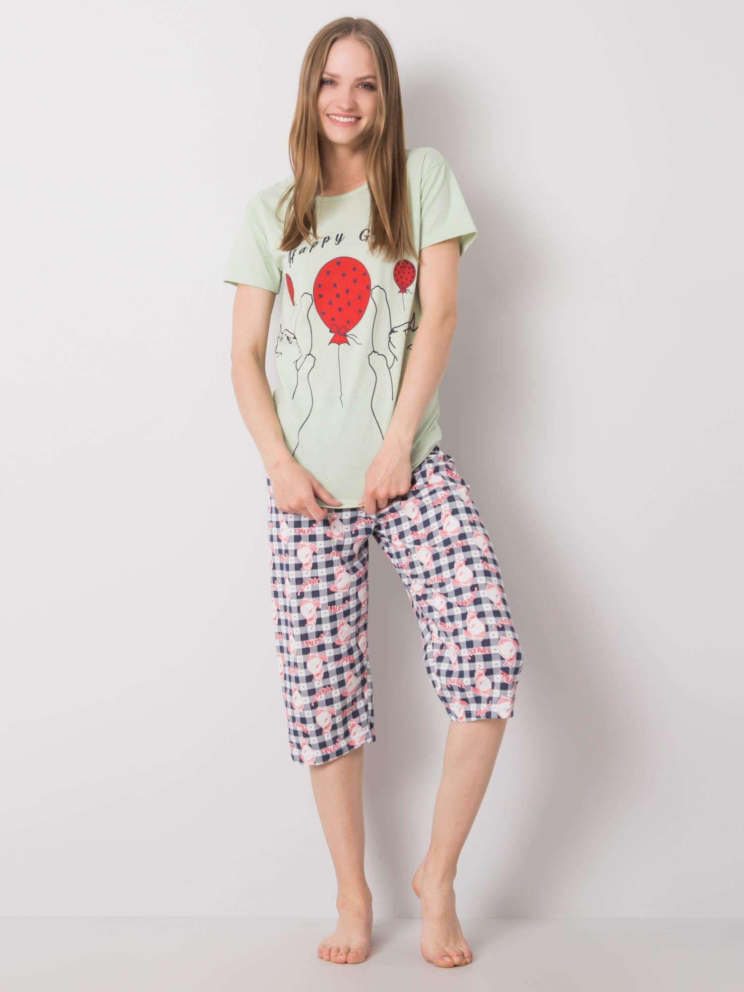Zelené dámske pyžamo XL