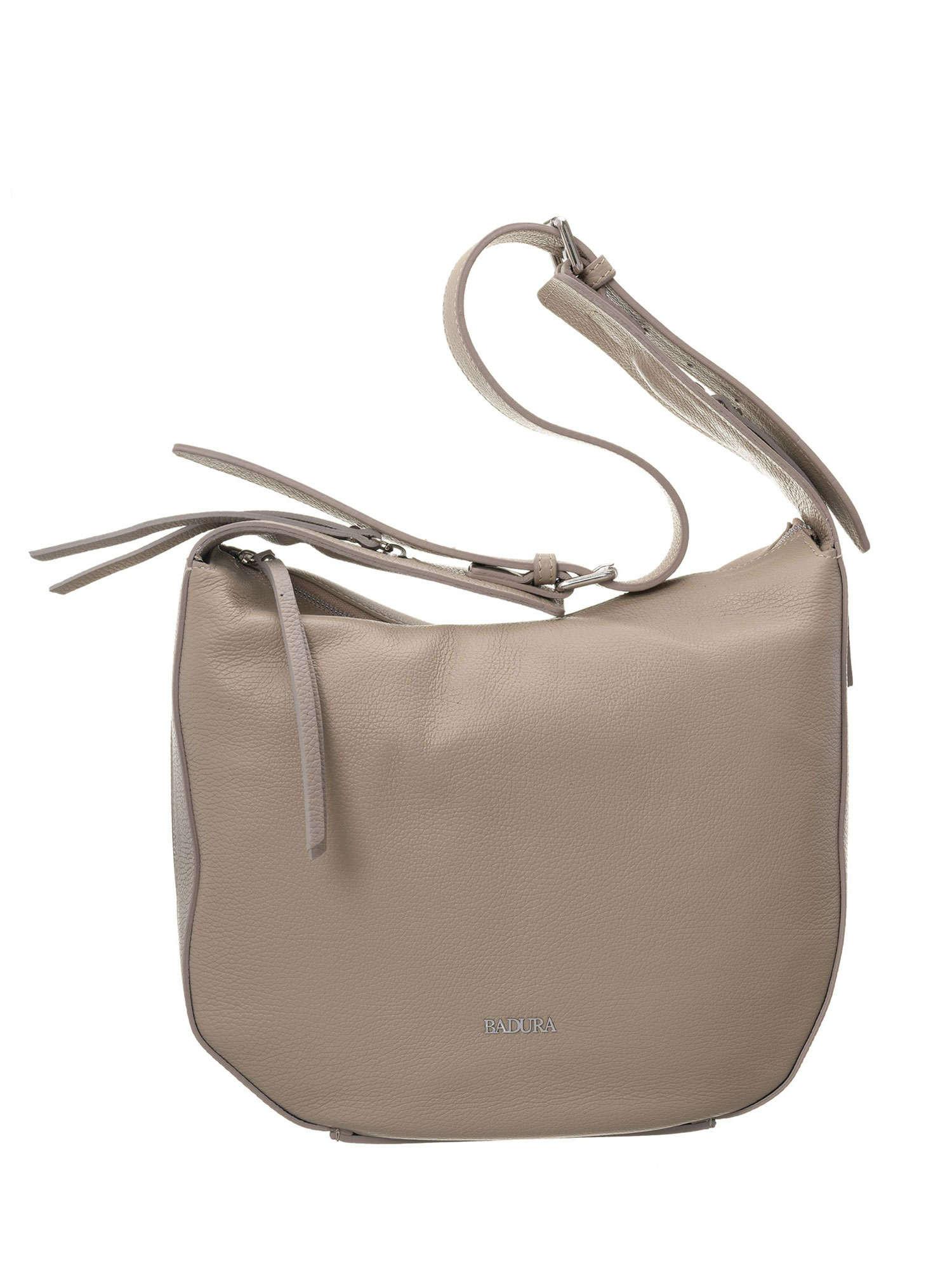 Dámska béžová kožená taška Badura ONE SIZE