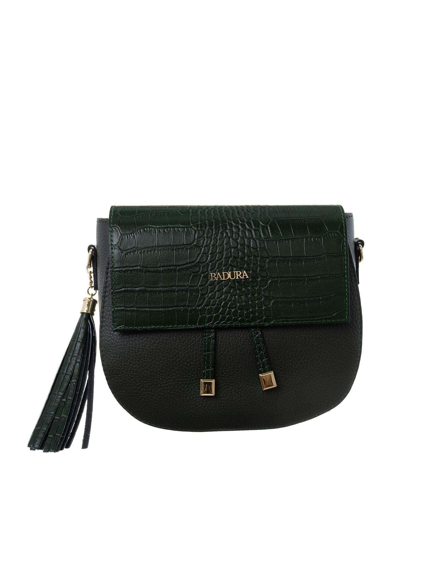 Dámska kožená taška Badura Green ONE SIZE