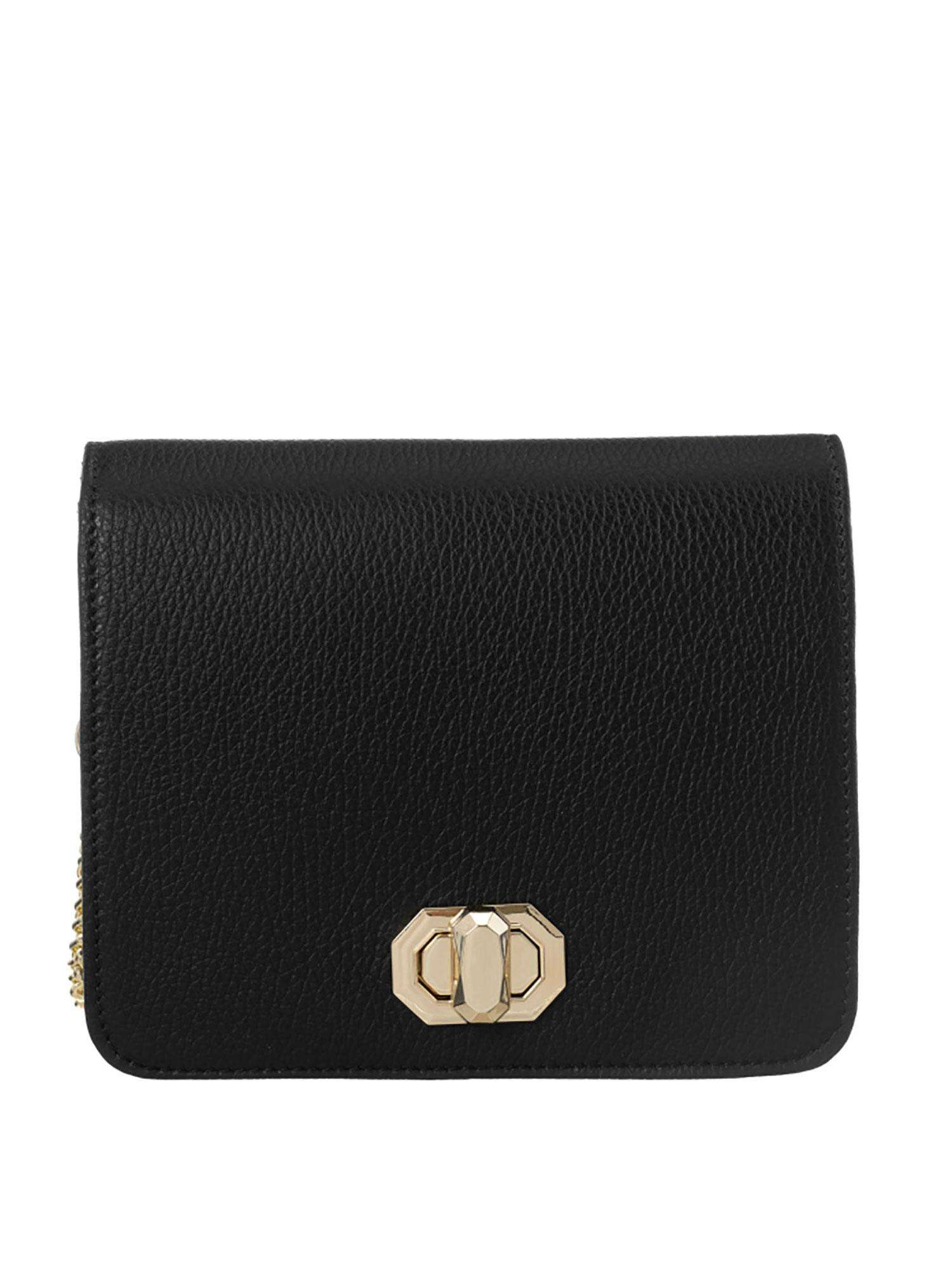 Černá kožená kabelka BADURA ONE SIZE