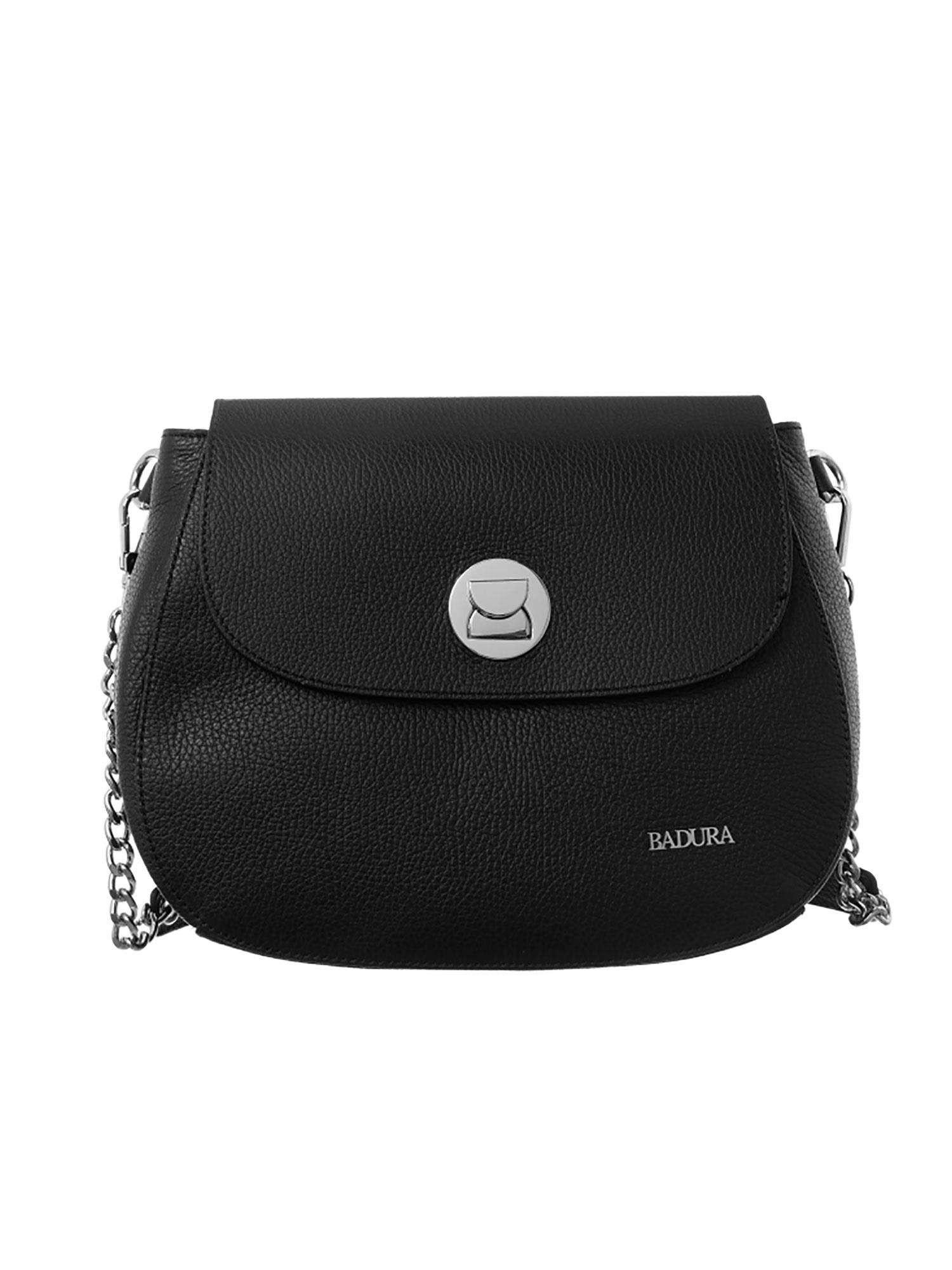 Badura Čierna kožená taška one size