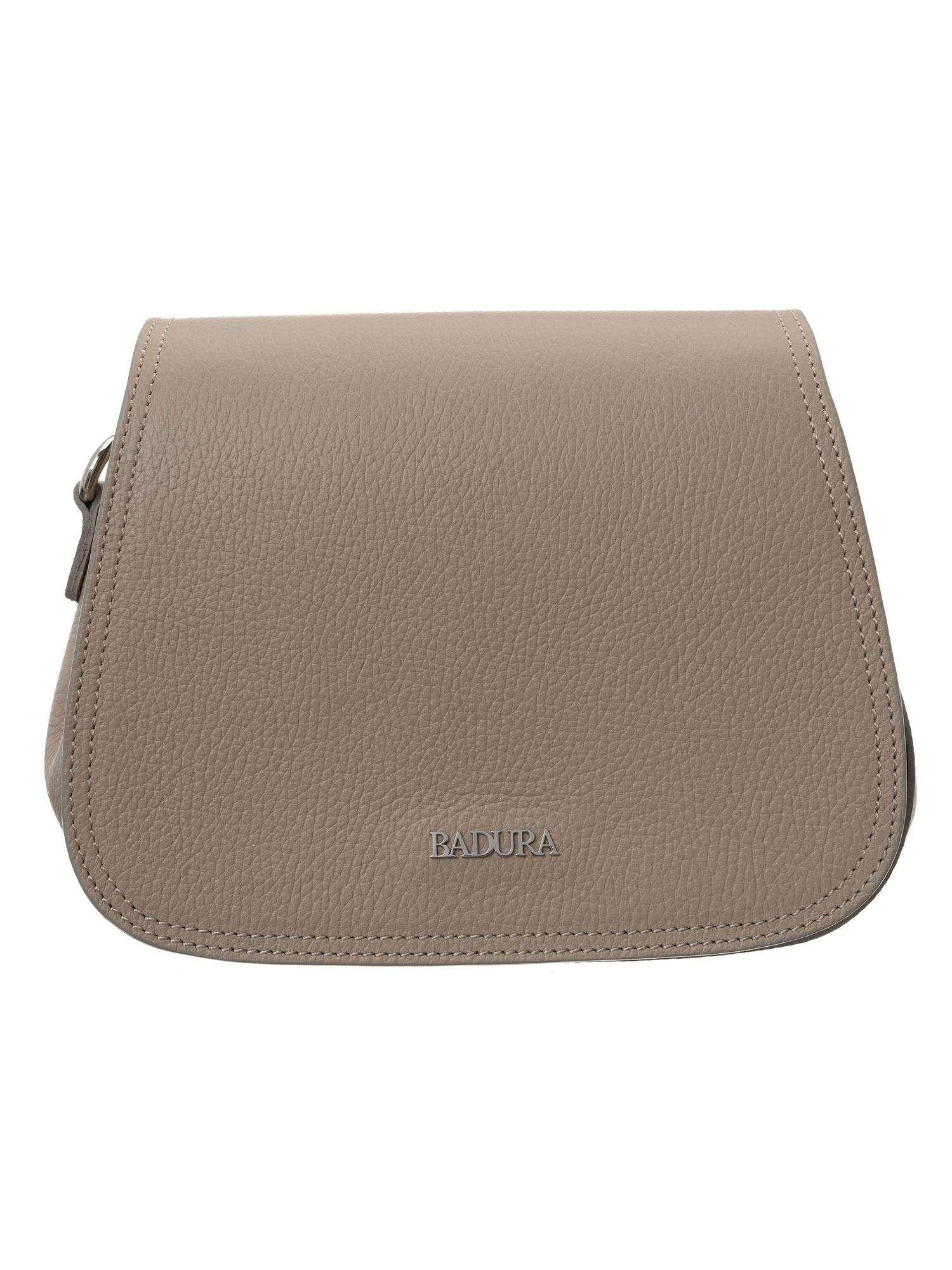 Badura Béžová kožená kabelka one size