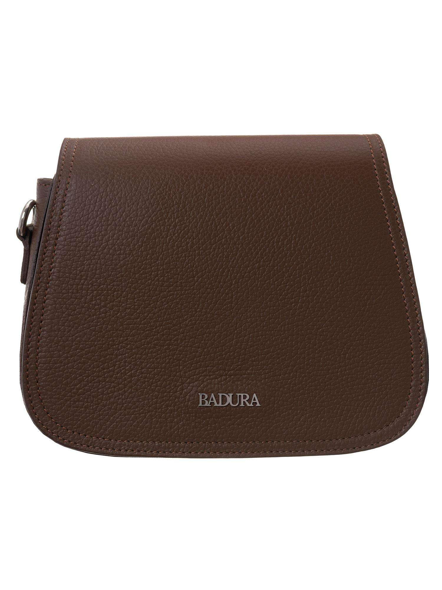Hnedá kožená kabelka Badura one size