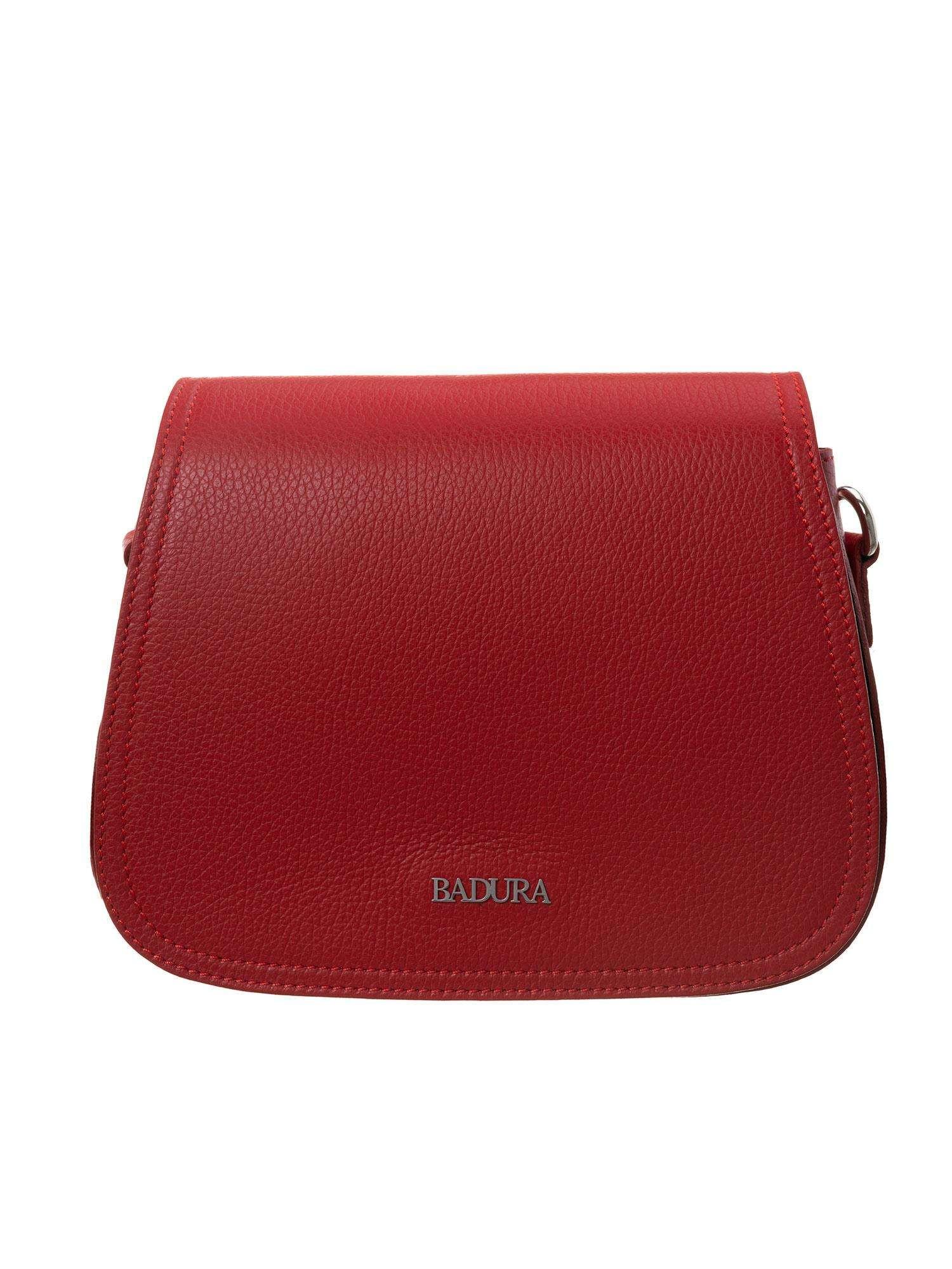 Kožená kabelka Badura červená one size