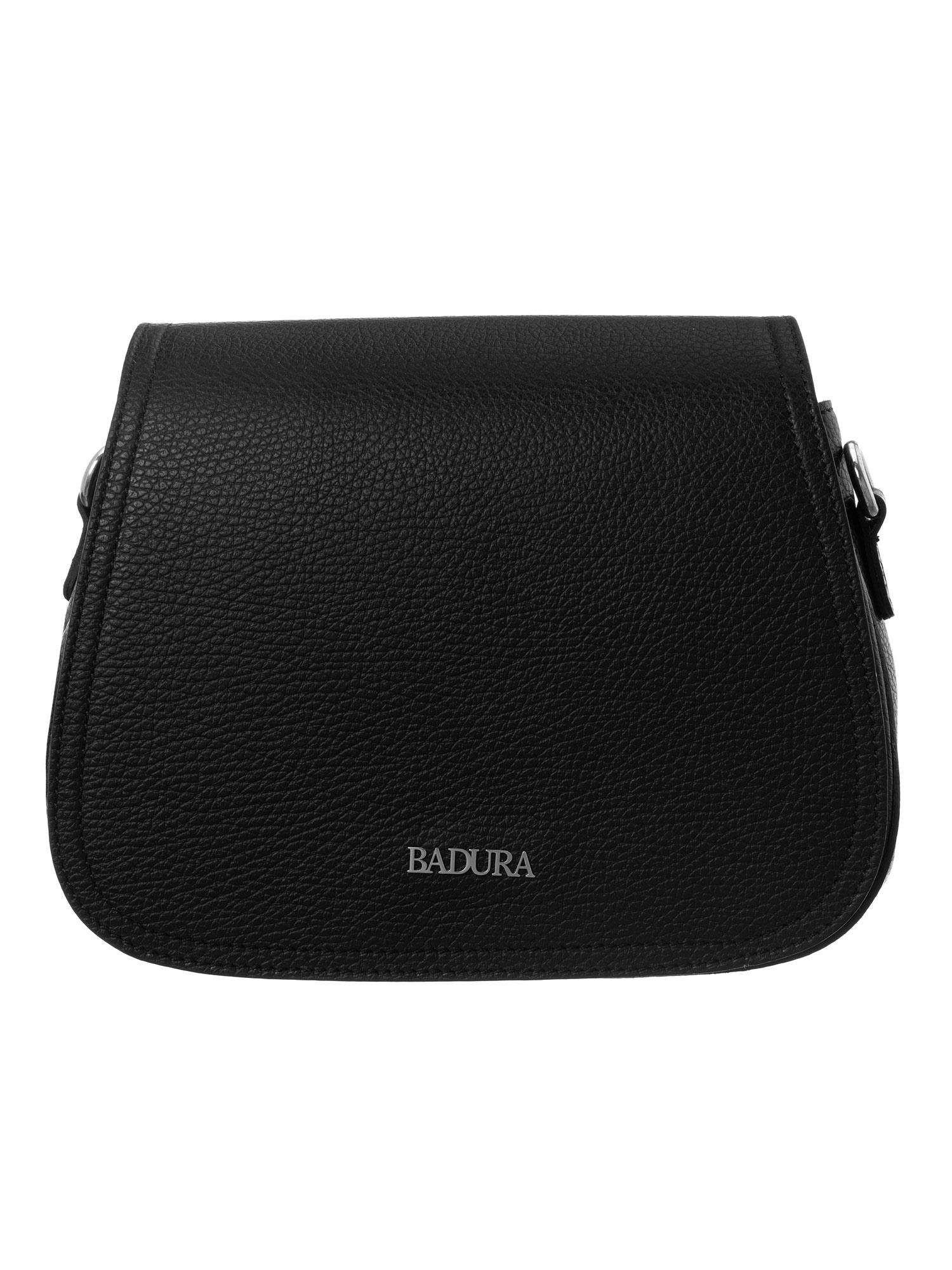 Badura Čierna kožená kabelka one size