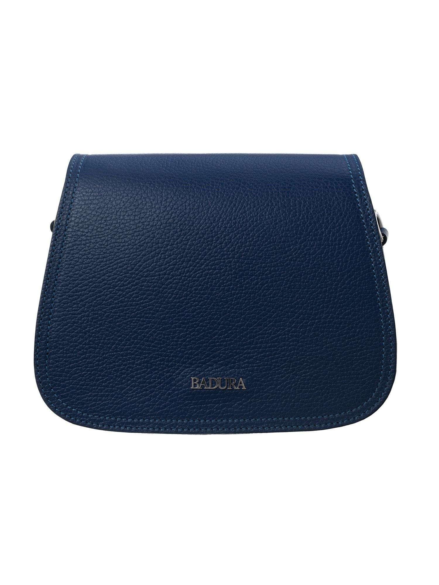 Badura Tmavo modrá kožená kabelka one size