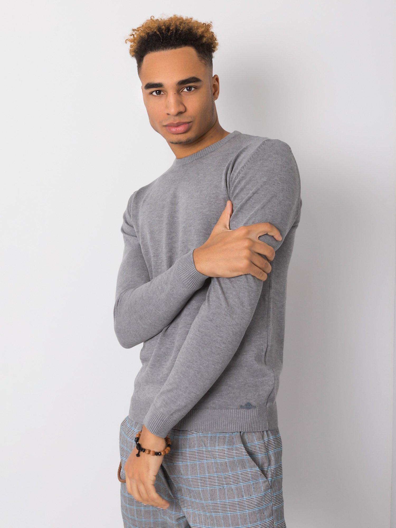 Šedý svetr pro muže LIWALI M