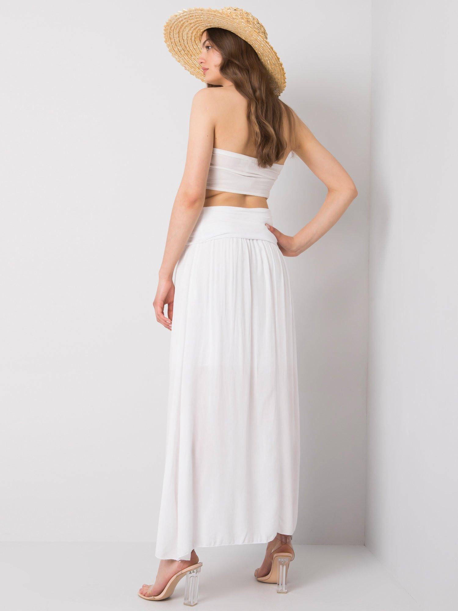 OH BELLA Bílá dlouhá sukně M