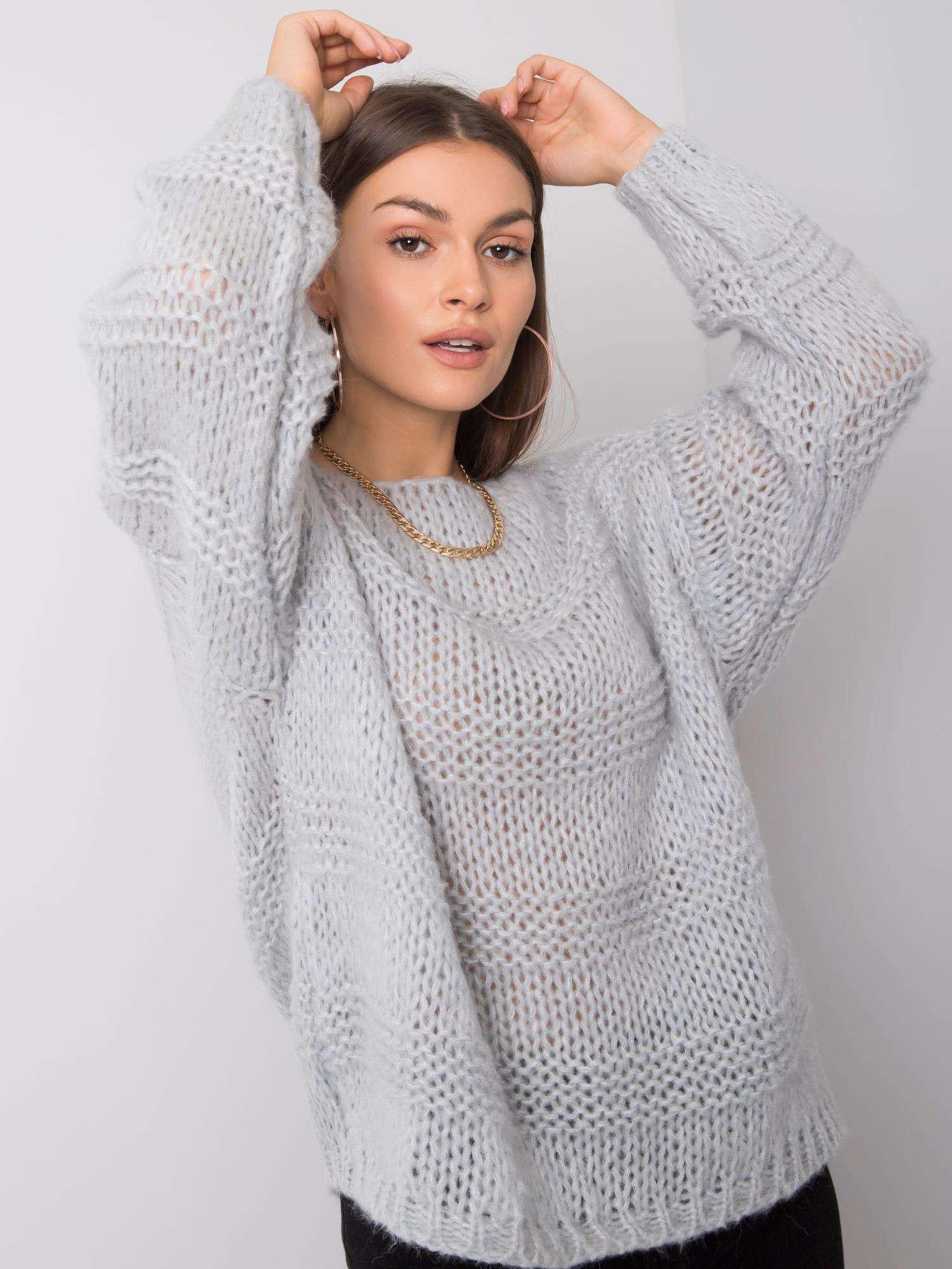 OCH BELLA Dámsky šedý sveter one size