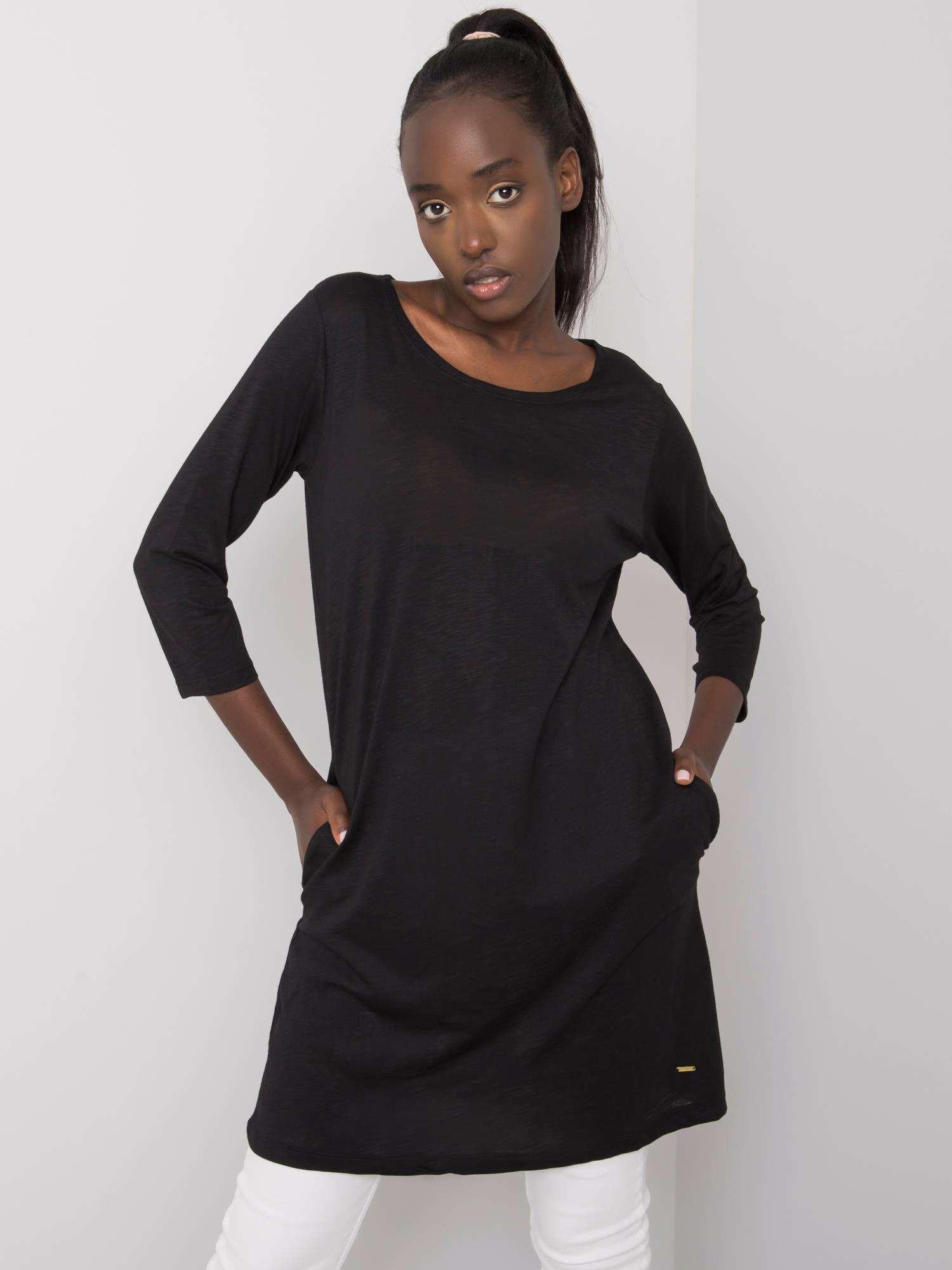 Černá bavlněná tunika S