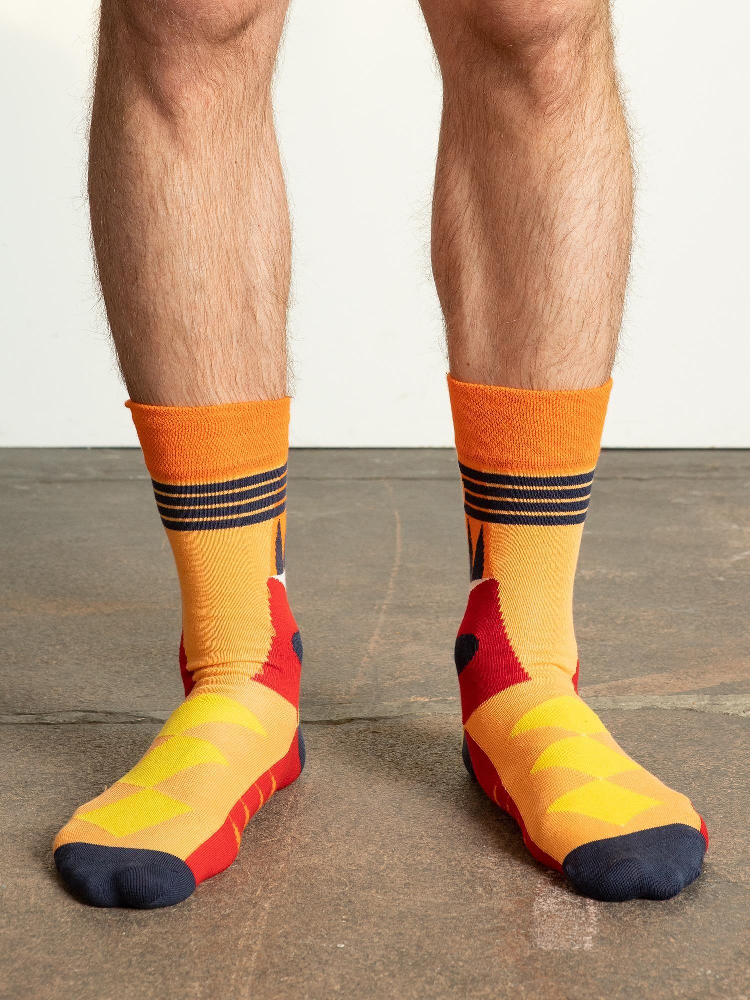 Oranžové pánske bavlnené ponožky 41-46