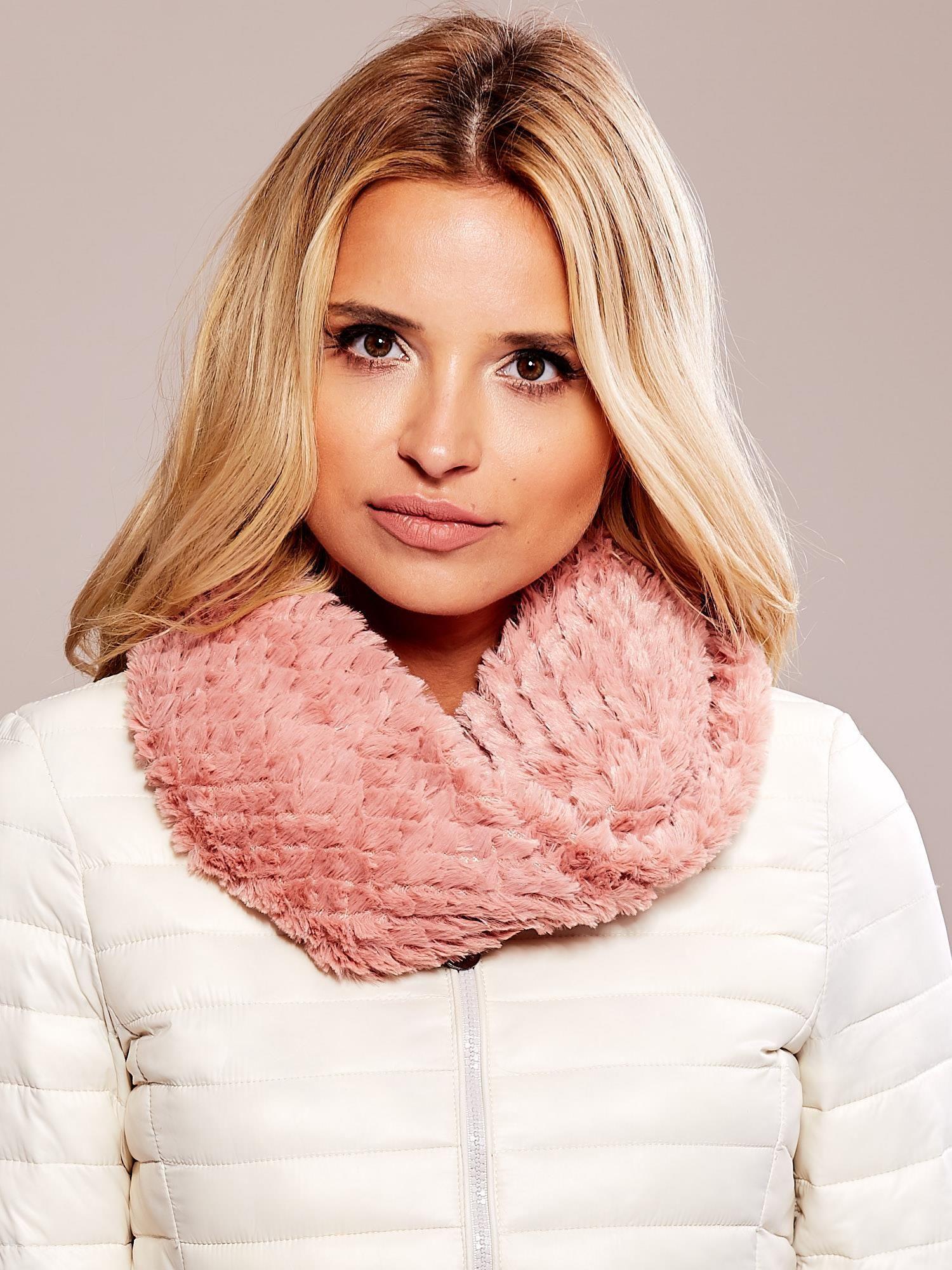 Měkký růžový šátek ONE SIZE
