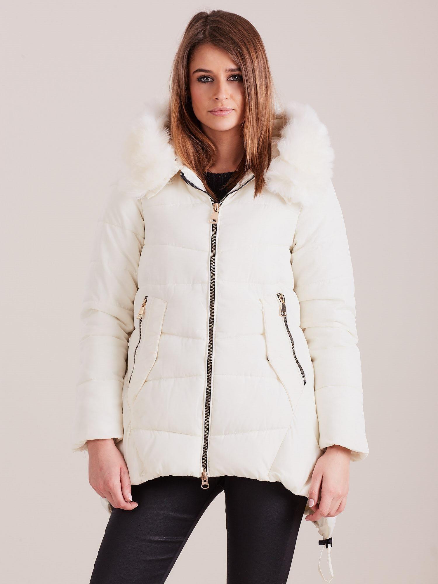 Dámská prošívaná zimní bunda Ecru S