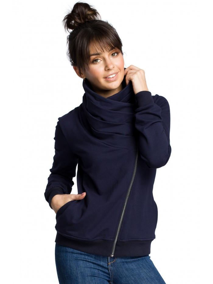 B071 Zipped sweatshirt EÚ L námornícka modrá