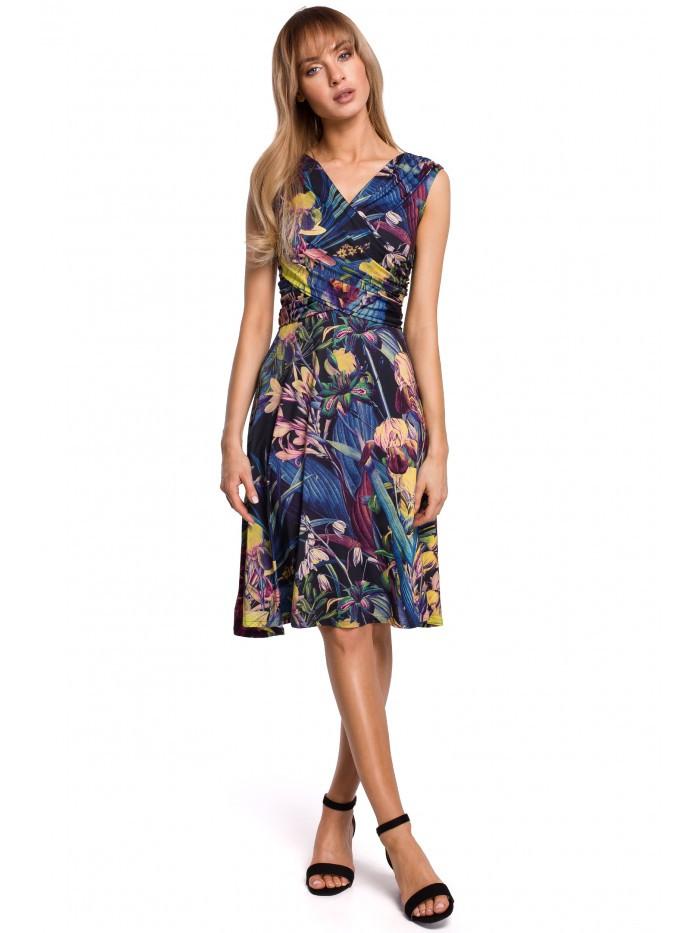 M499 Print fit a svetlice šaty - model EÚ XL model1